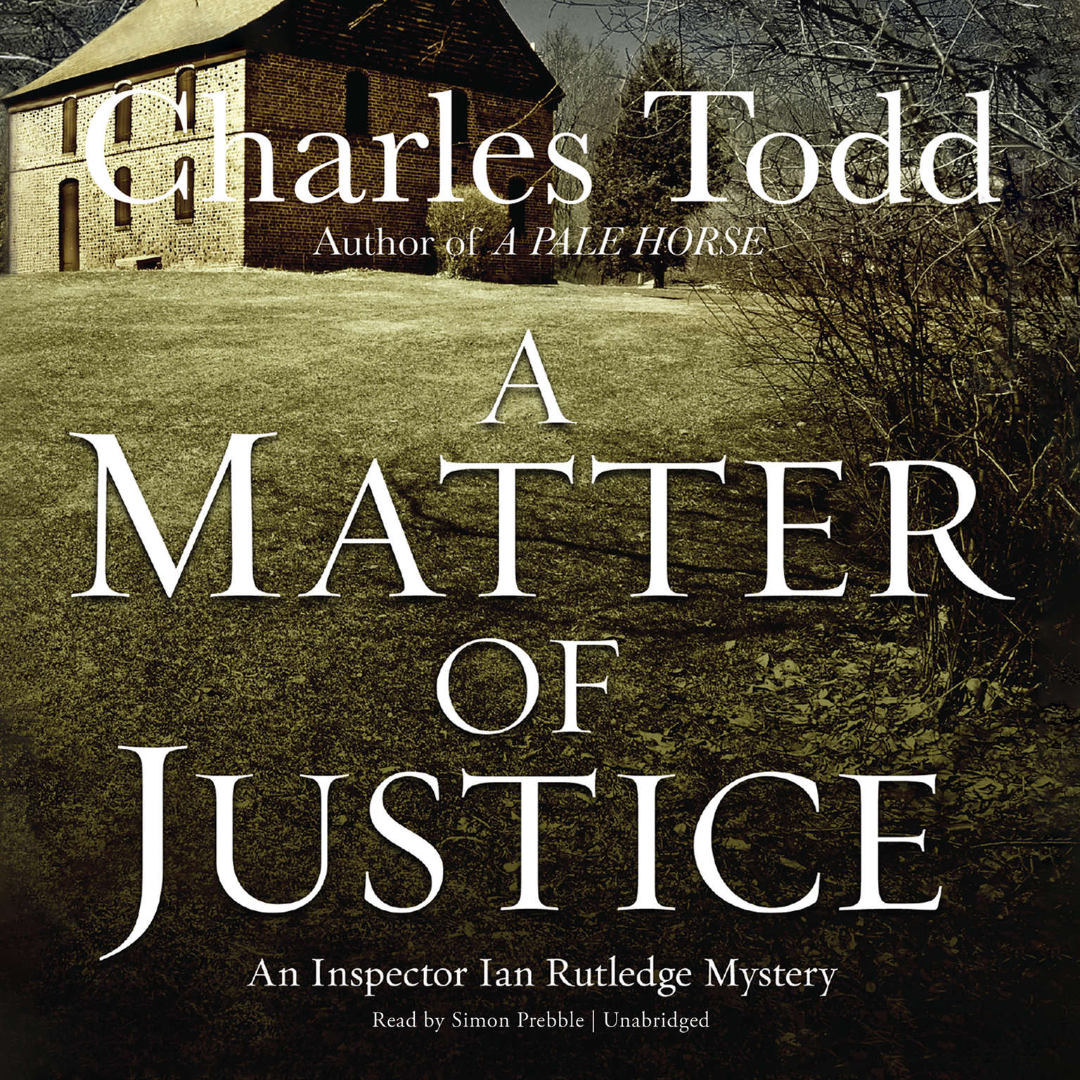 Printable A Matter of Justice Audiobook Cover Art