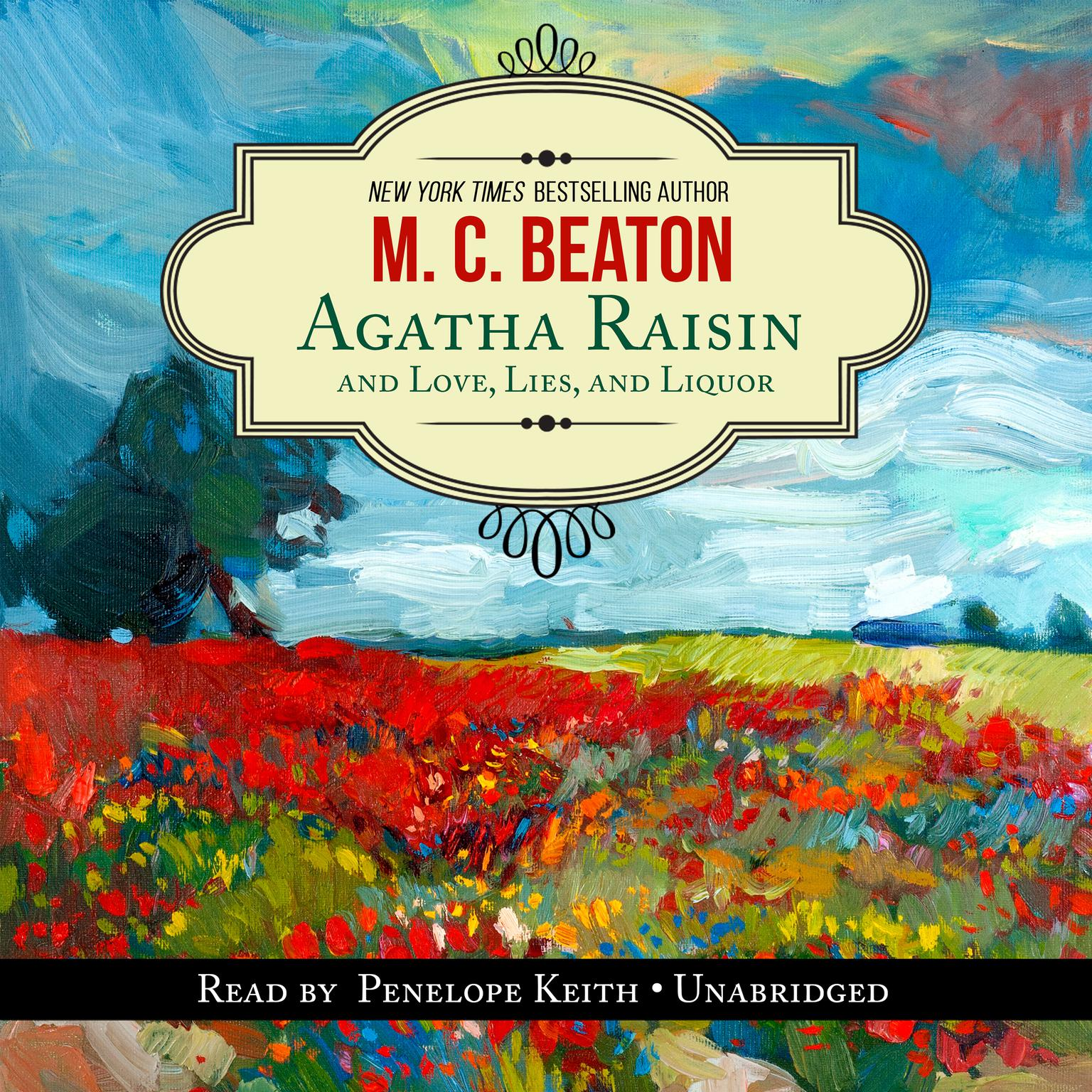 Printable Agatha Raisin and Love, Lies, and Liquor Audiobook Cover Art