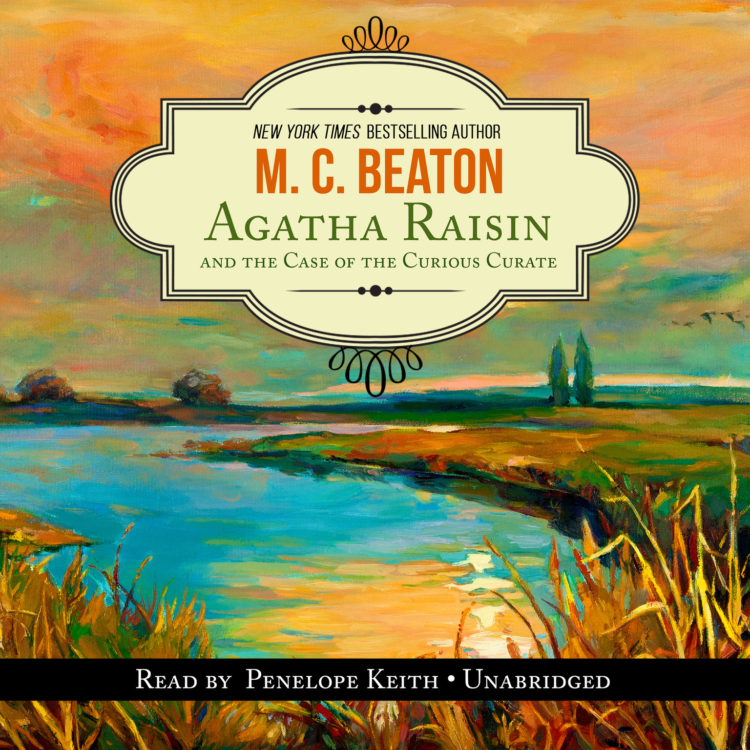 Printable Agatha Raisin and the Case of the Curious Curate Audiobook Cover Art