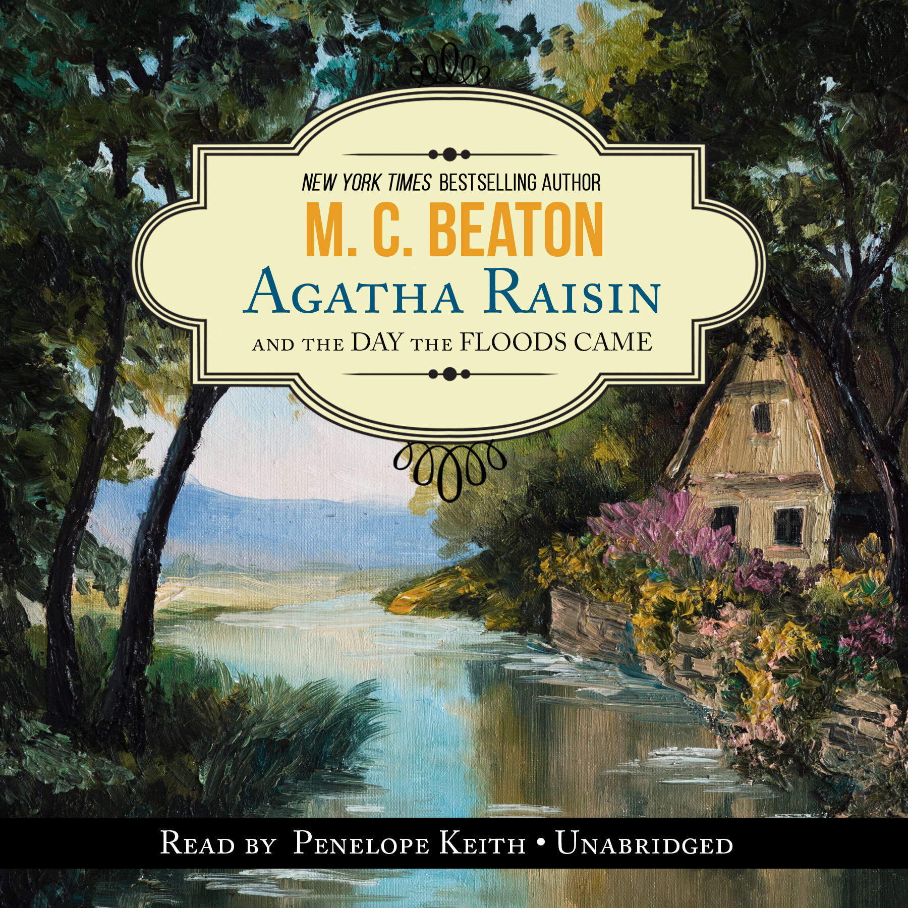 Printable Agatha Raisin and the Day the Floods Came Audiobook Cover Art