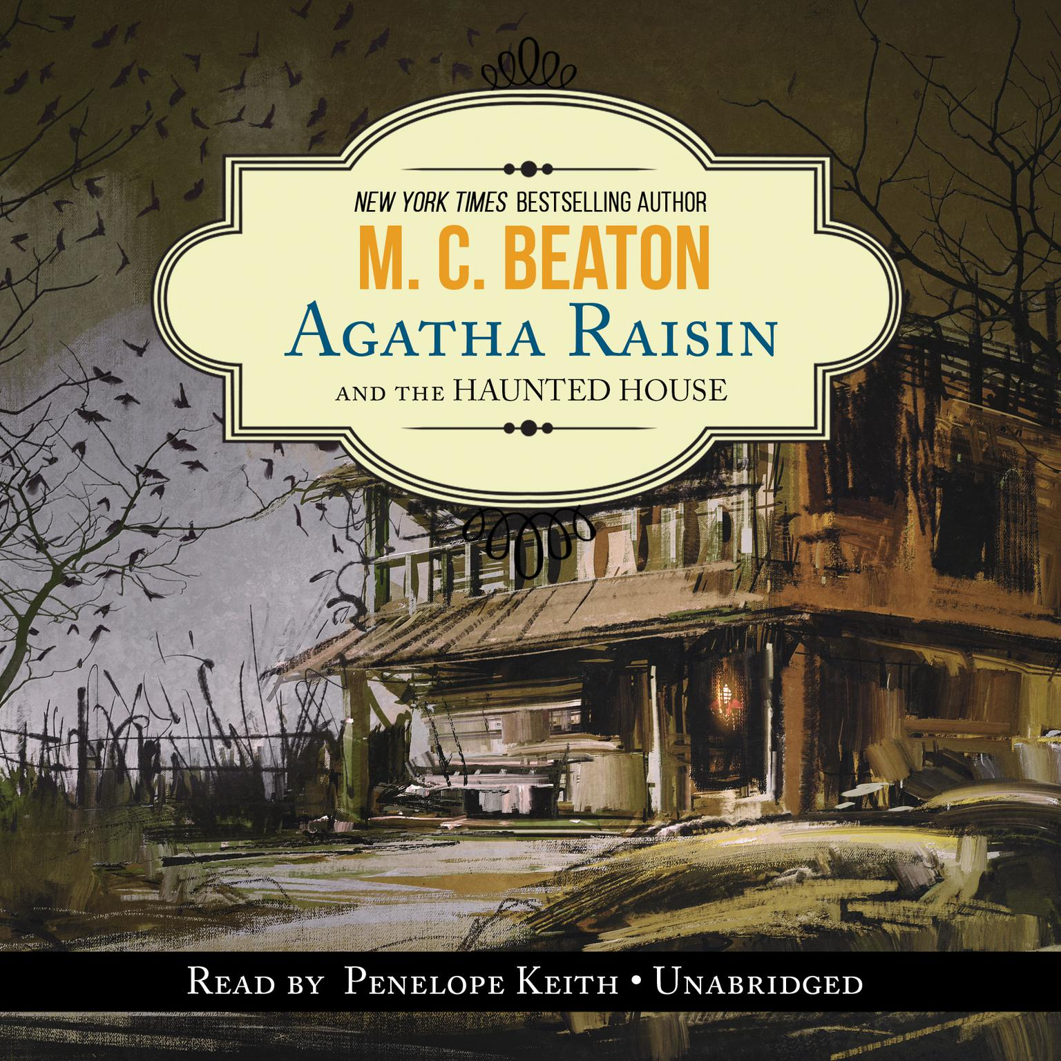Printable Agatha Raisin and the Haunted House Audiobook Cover Art