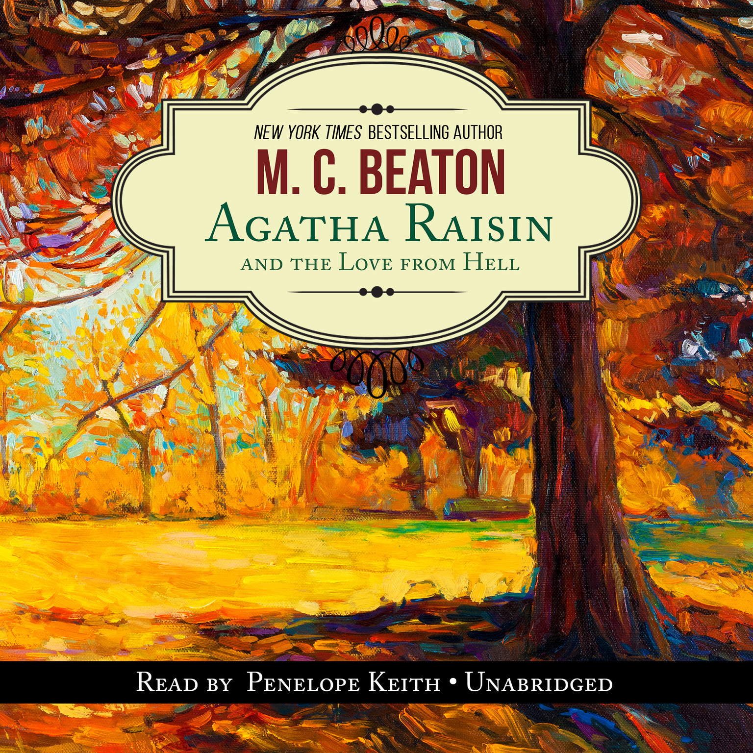 Printable Agatha Raisin and the Love from Hell Audiobook Cover Art
