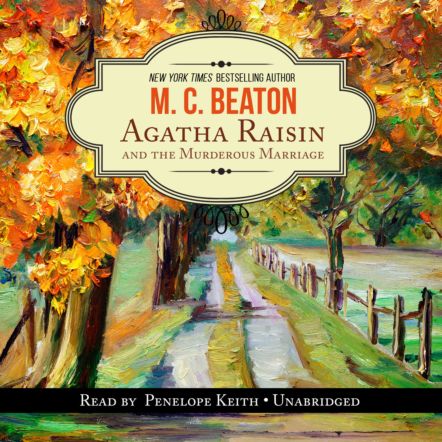 Printable Agatha Raisin and the Murderous Marriage Audiobook Cover Art