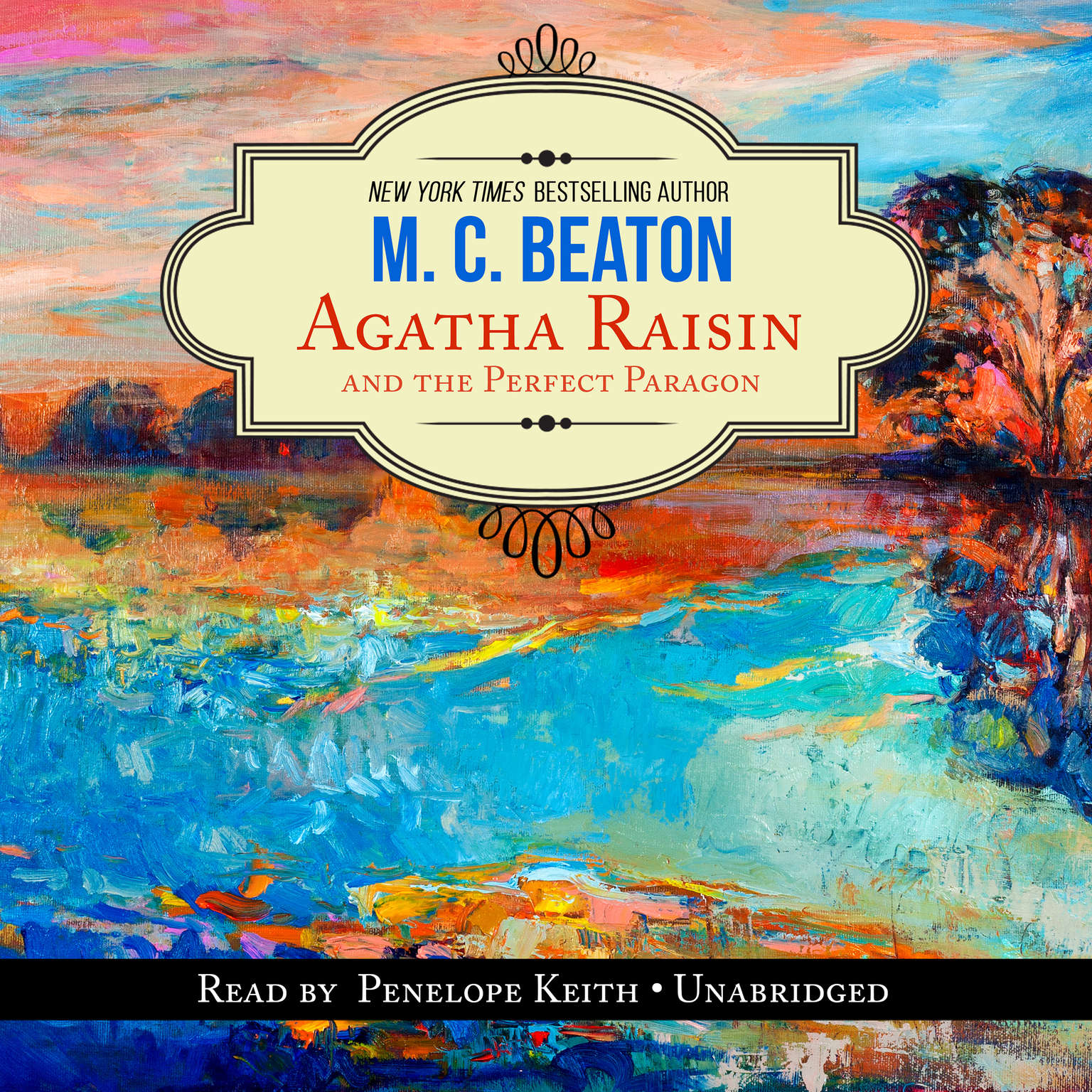 Printable Agatha Raisin and the Perfect Paragon Audiobook Cover Art