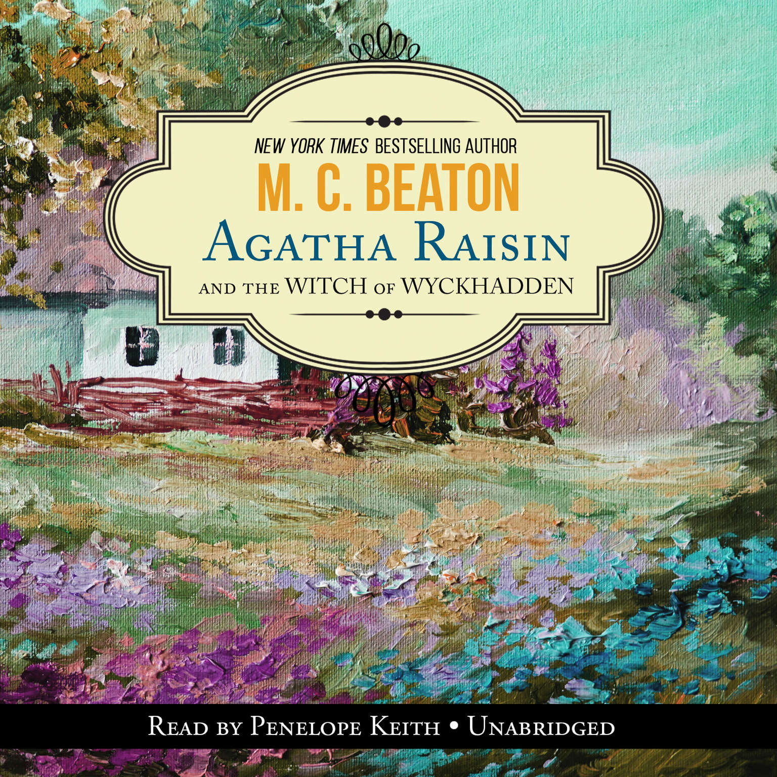 Printable Agatha Raisin and the Witch of Wyckhadden Audiobook Cover Art