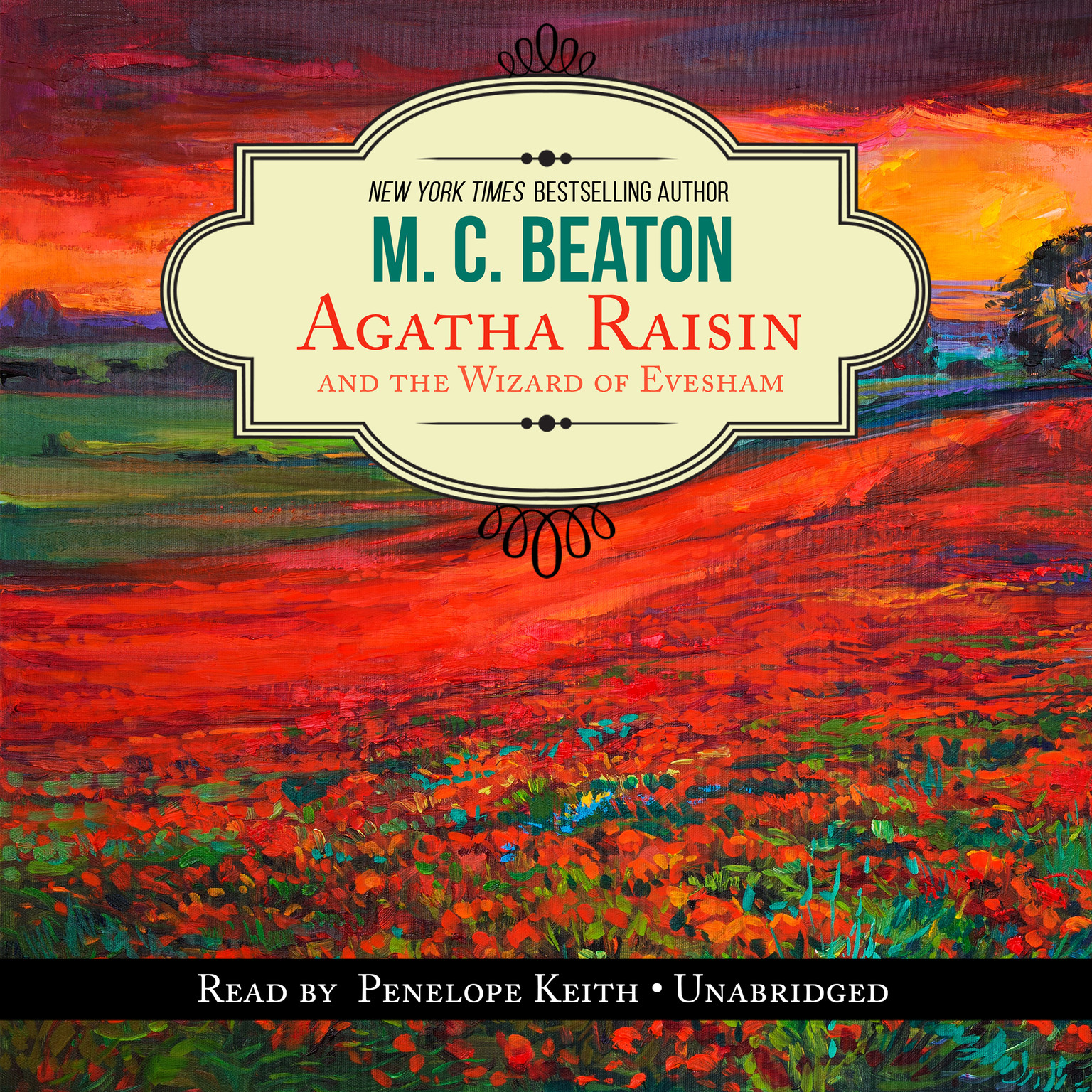 Printable Agatha Raisin and the Wizard of Evesham Audiobook Cover Art