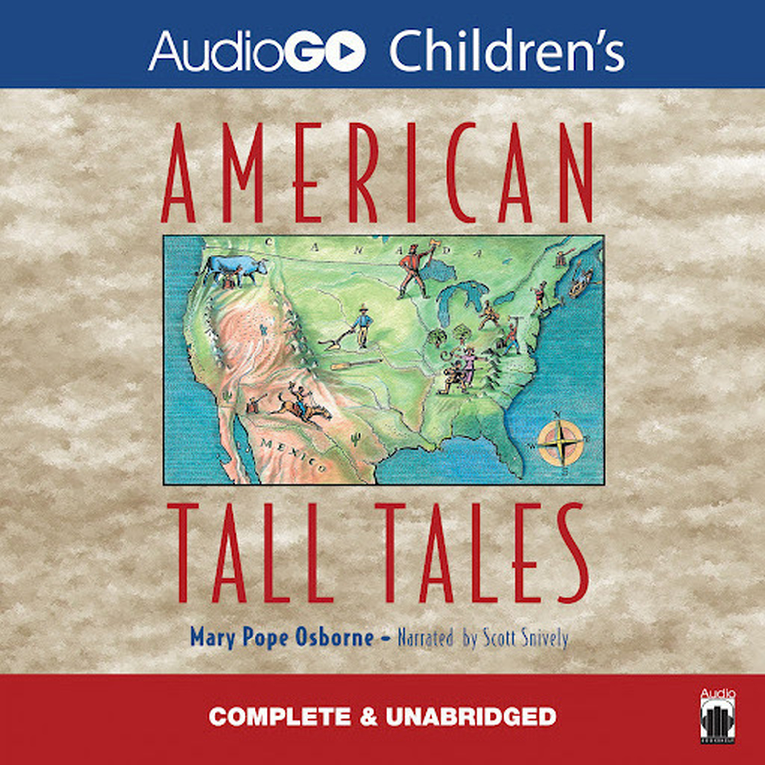 Printable American Tall Tales Audiobook Cover Art