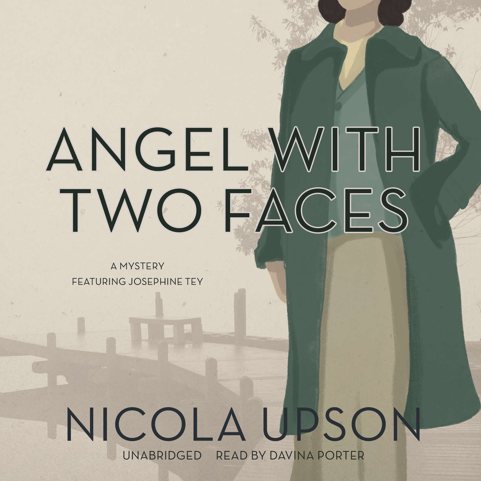Printable Angel with Two Faces: A Mystery Featuring Josephine Tey Audiobook Cover Art