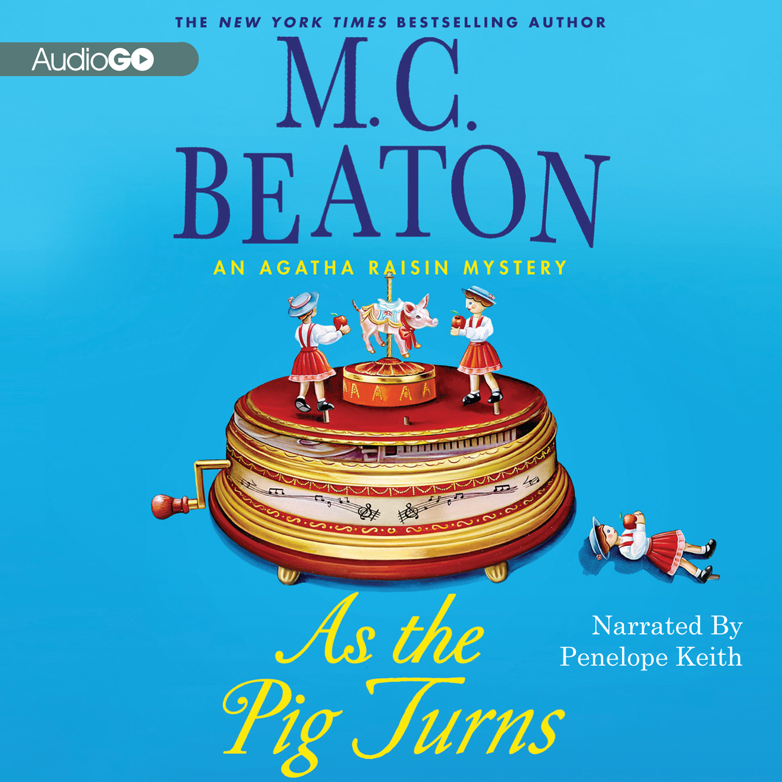 Printable As the Pig Turns: An Agatha Raisin Mystery Audiobook Cover Art