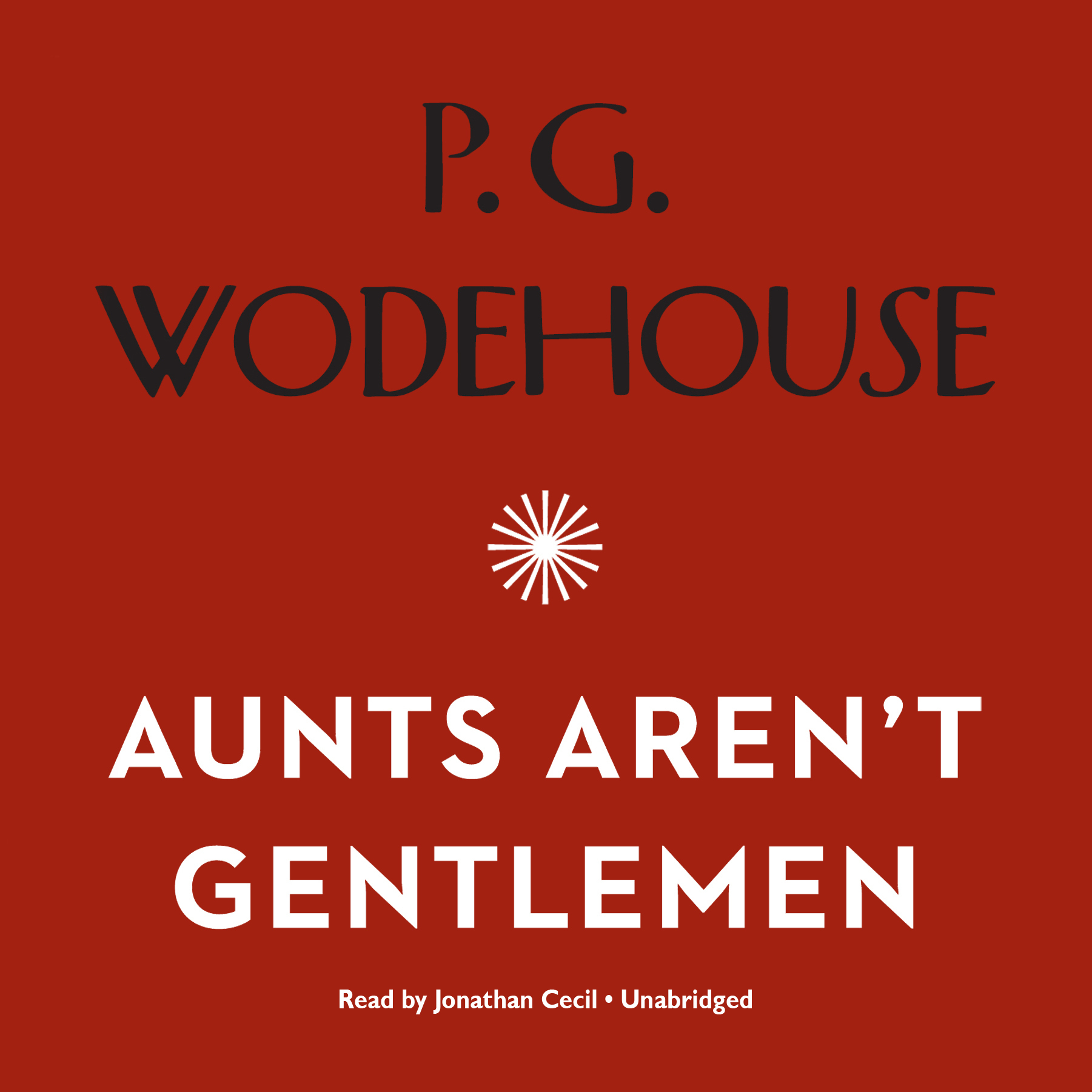 Printable Aunts Aren't Gentlemen Audiobook Cover Art