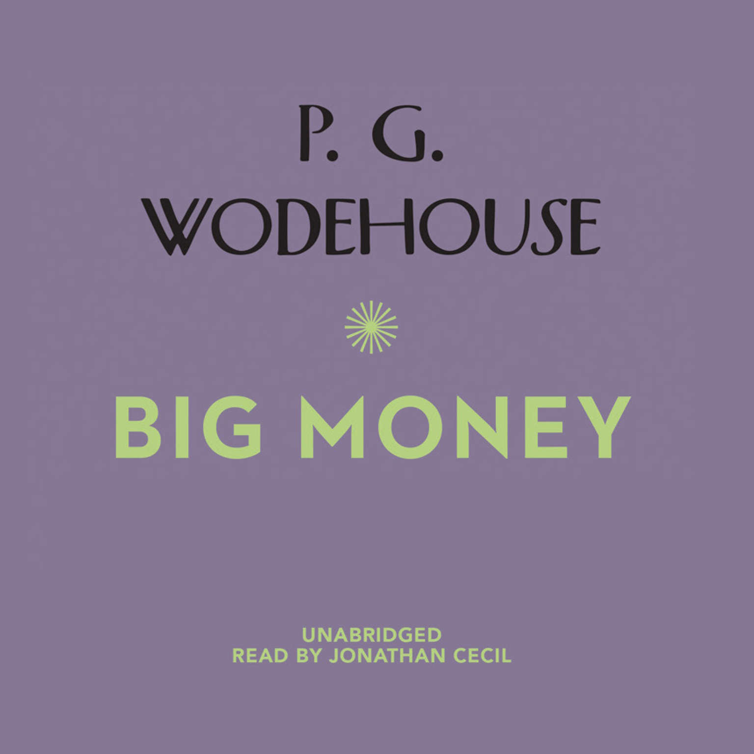 Printable Big Money Audiobook Cover Art