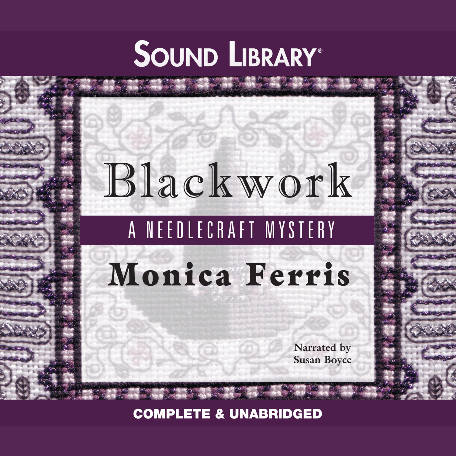Printable Blackwork Audiobook Cover Art