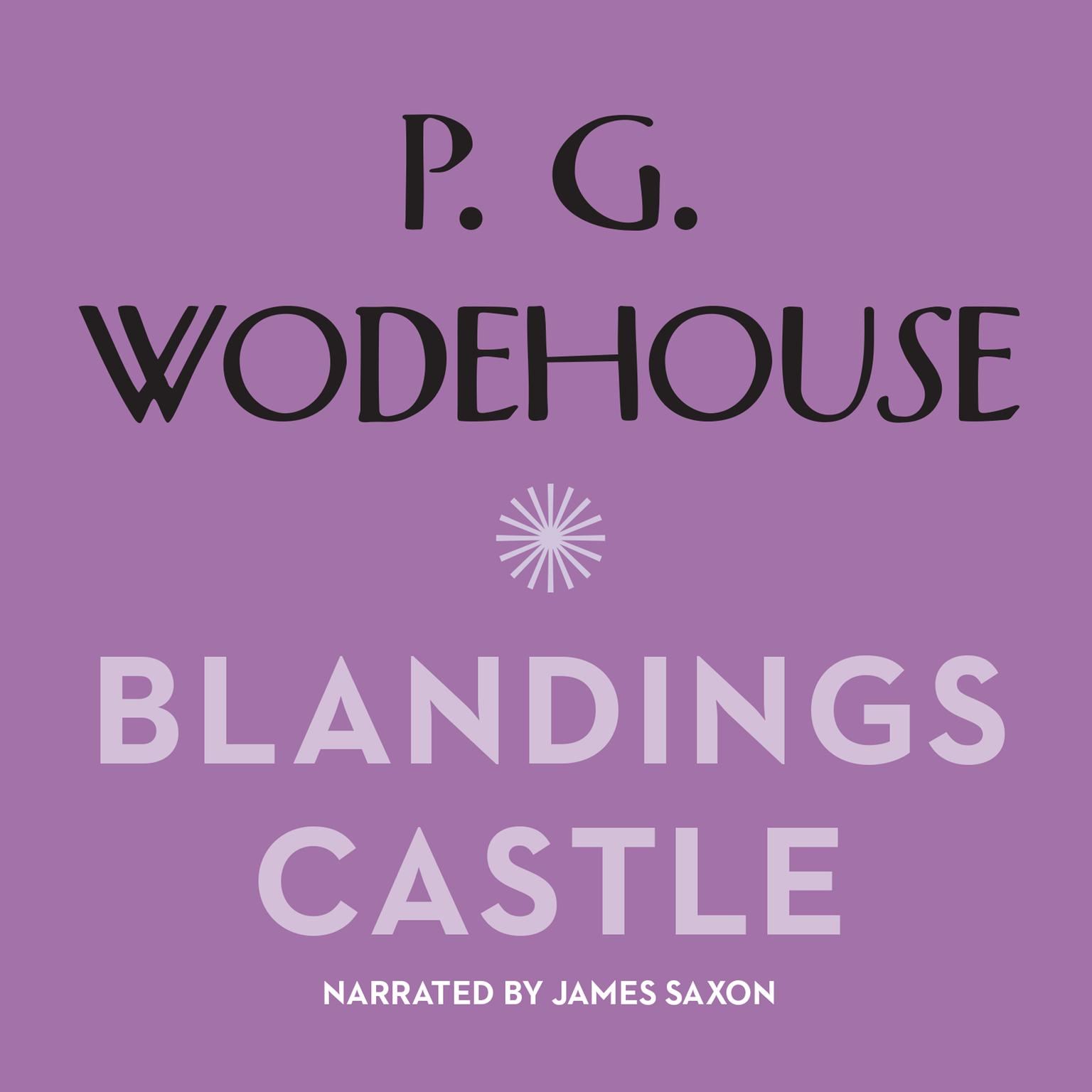 Printable Blandings Castle and Elsewhere Audiobook Cover Art