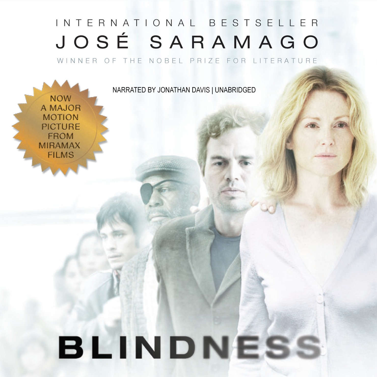 Printable Blindness: A Novel Audiobook Cover Art