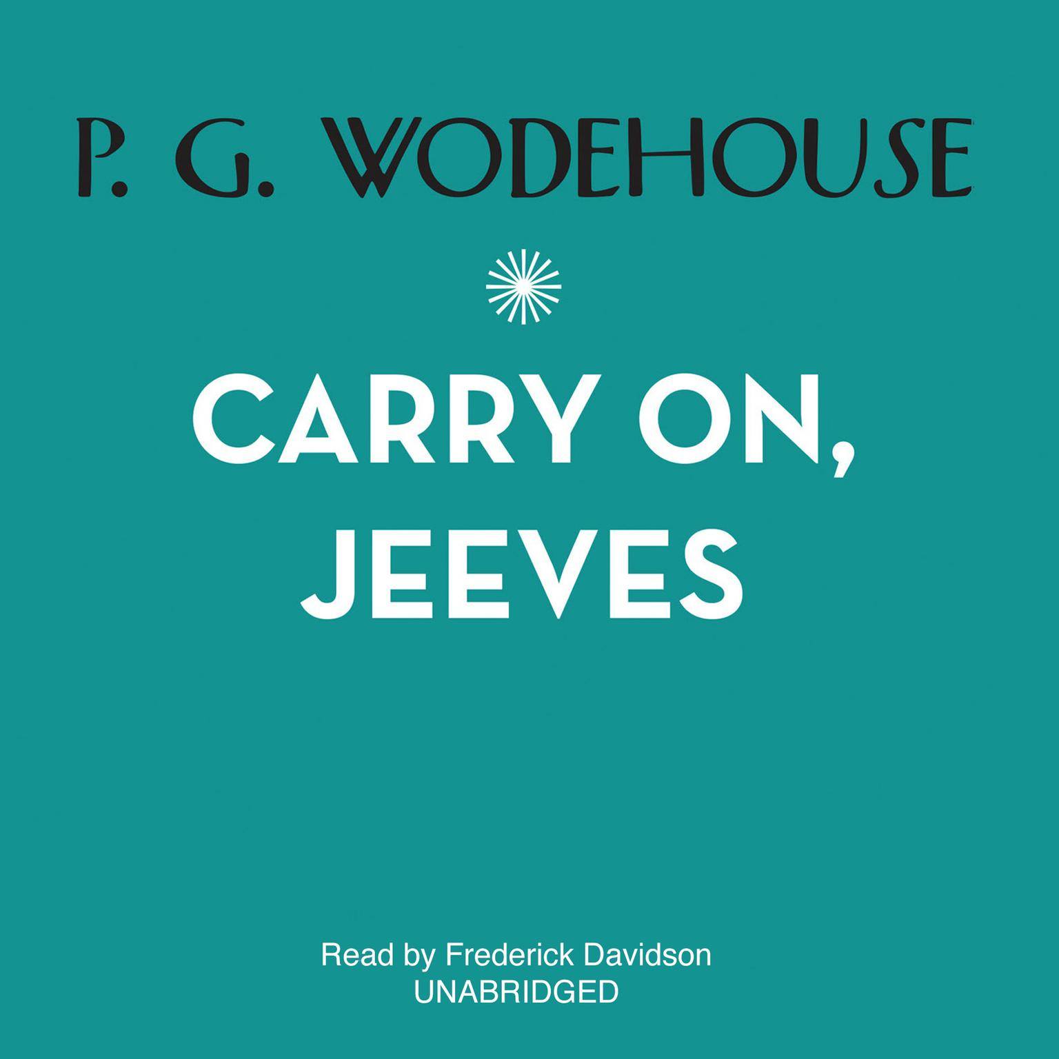 Printable Carry On, Jeeves Audiobook Cover Art