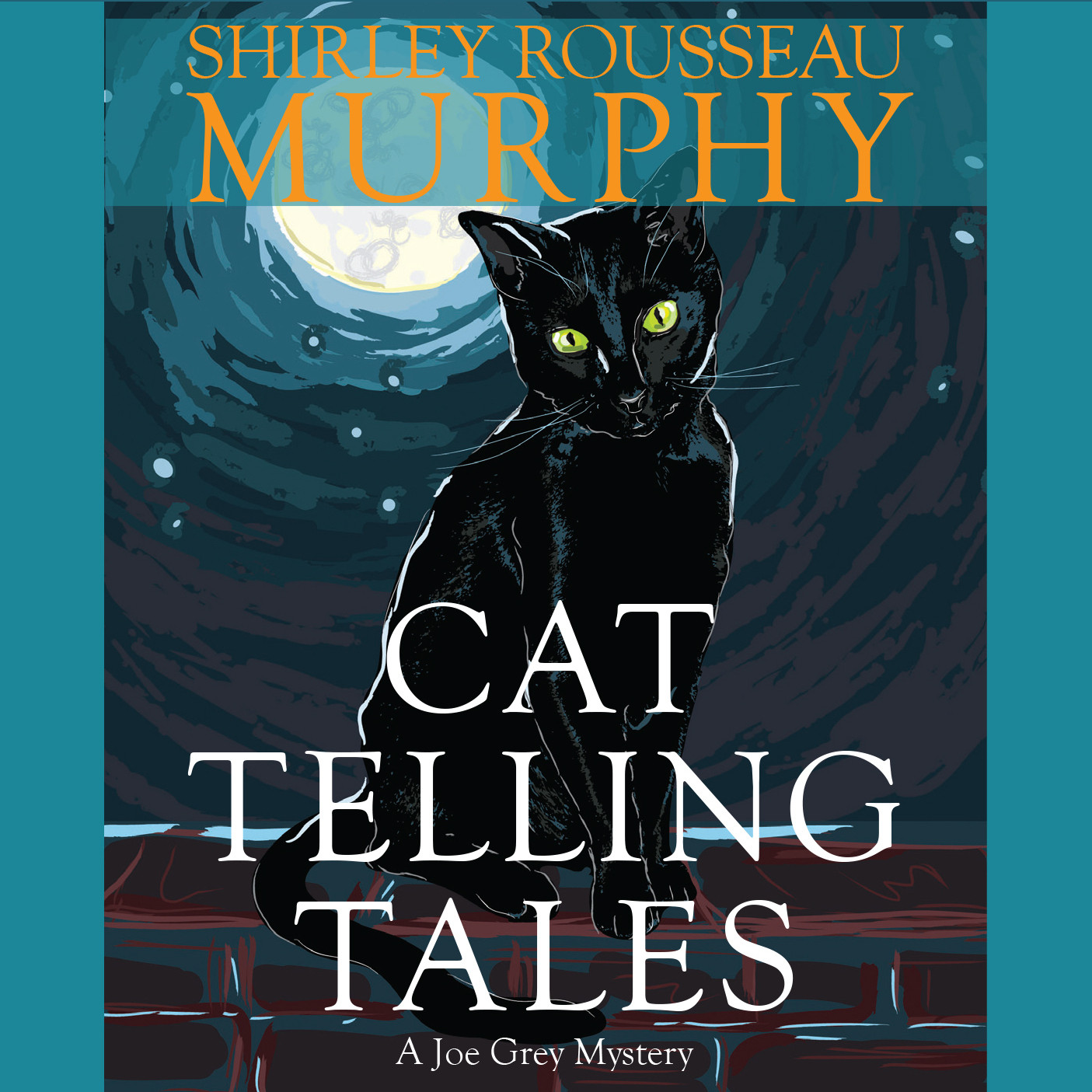 Printable Cat Telling Tales Audiobook Cover Art