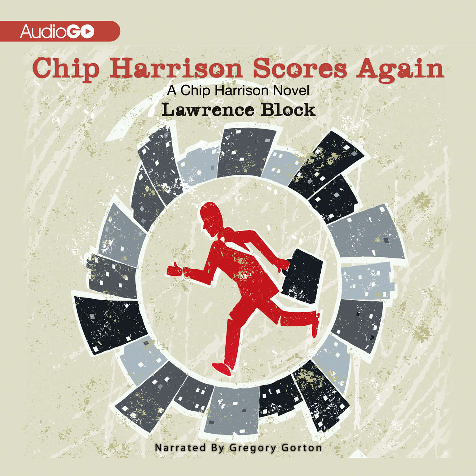 Printable Chip Harrison Scores Again Audiobook Cover Art