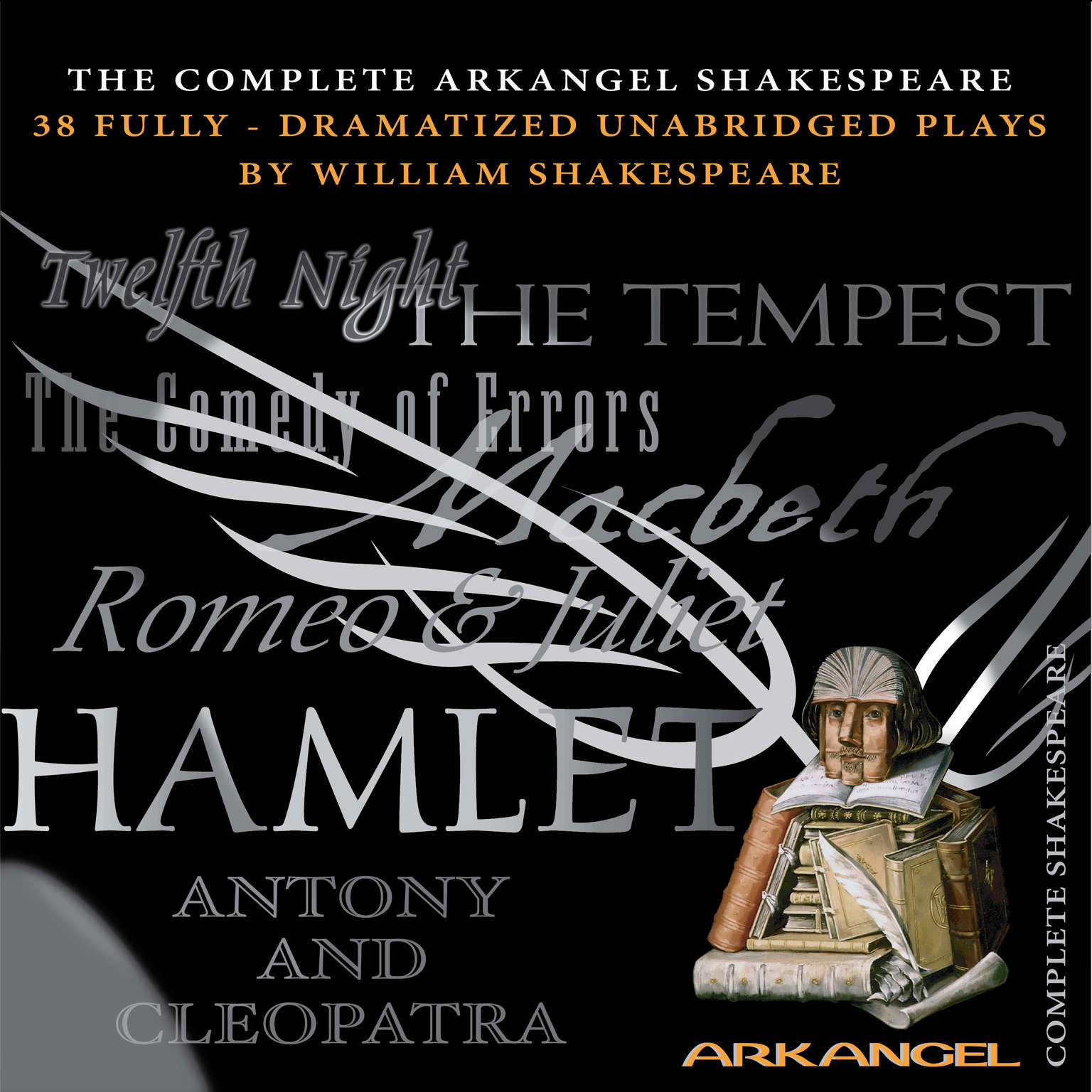 Printable The Complete Arkangel Shakespeare Audiobook Cover Art