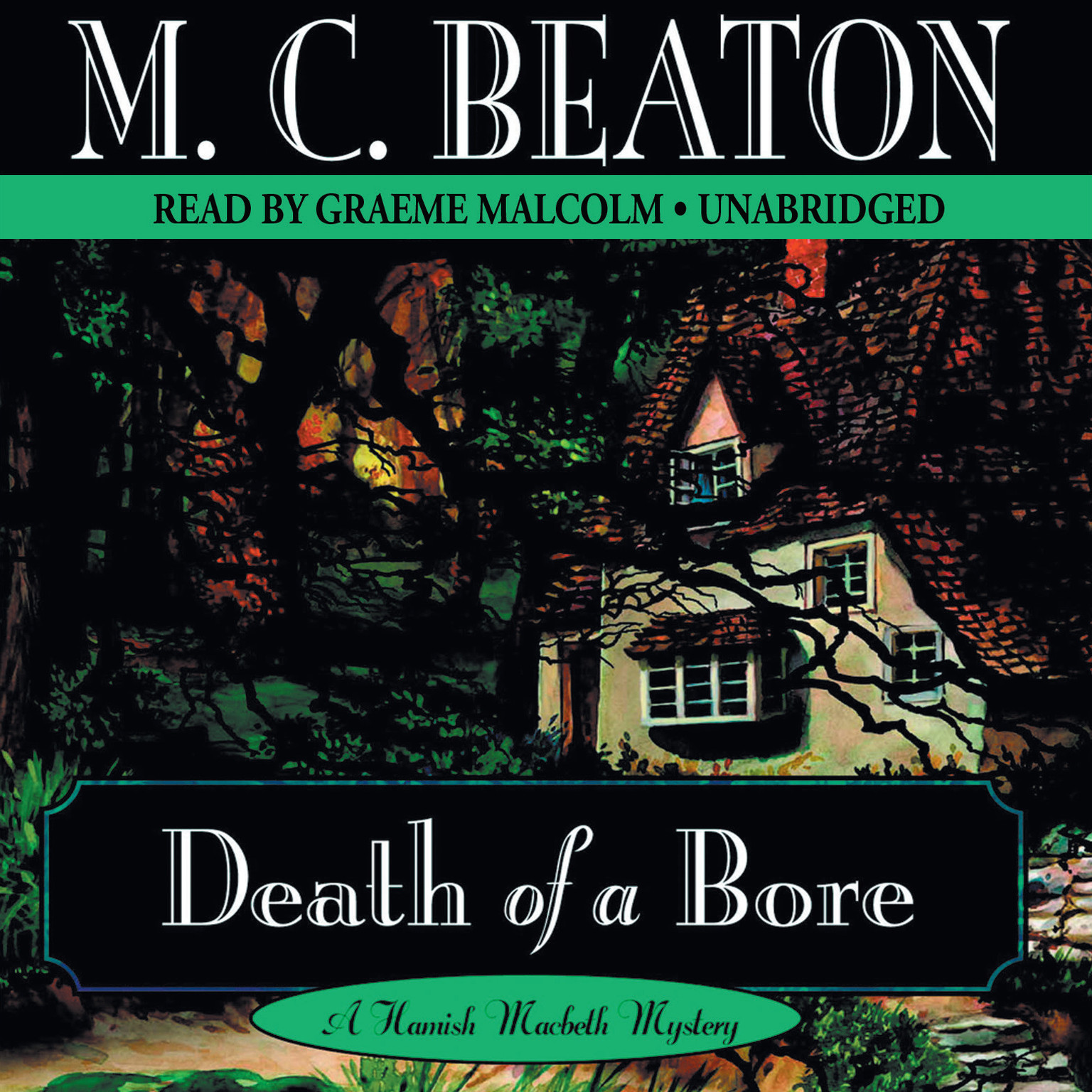 Printable Death of a Bore Audiobook Cover Art