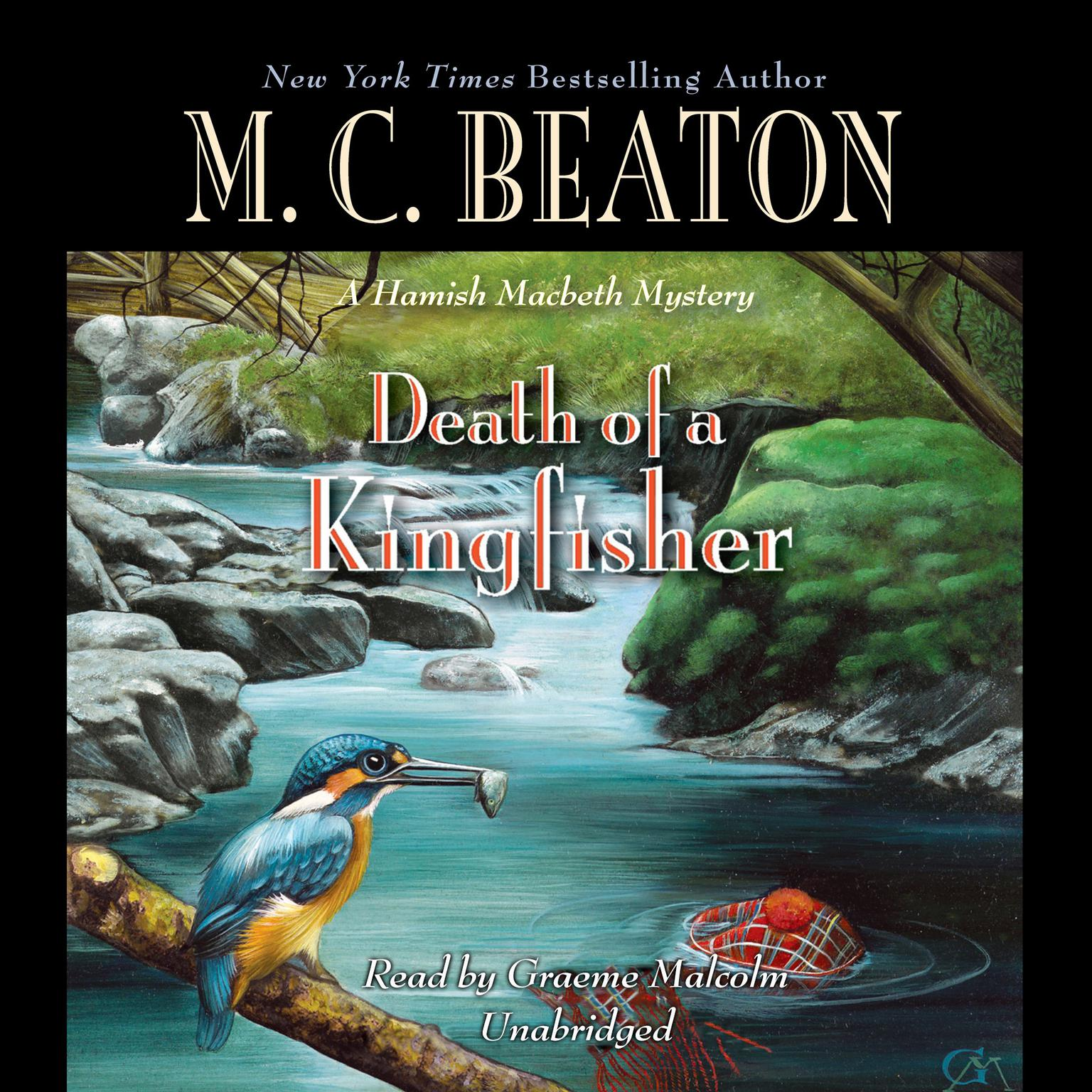 Printable Death of a Kingfisher Audiobook Cover Art