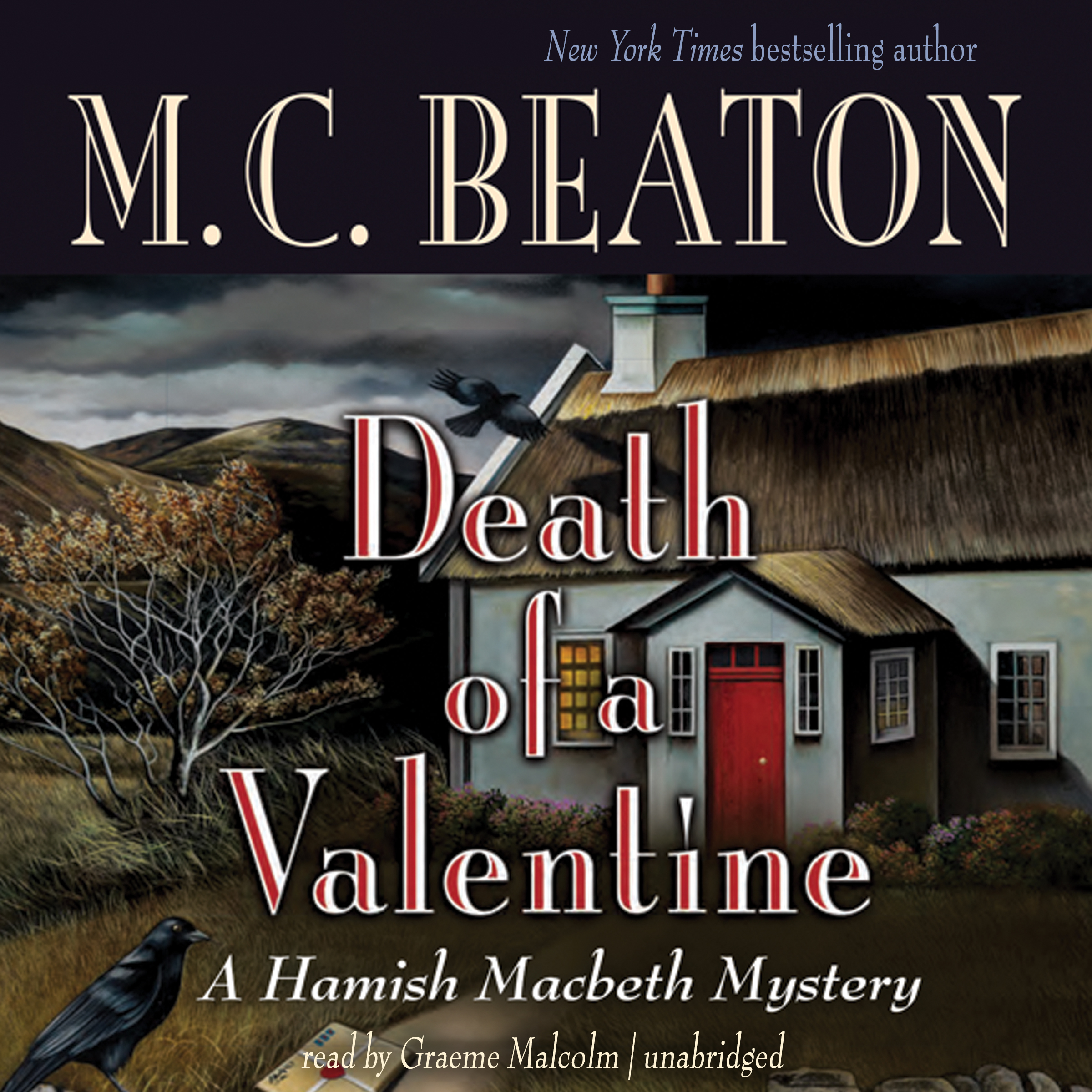 Printable Death of a Valentine Audiobook Cover Art