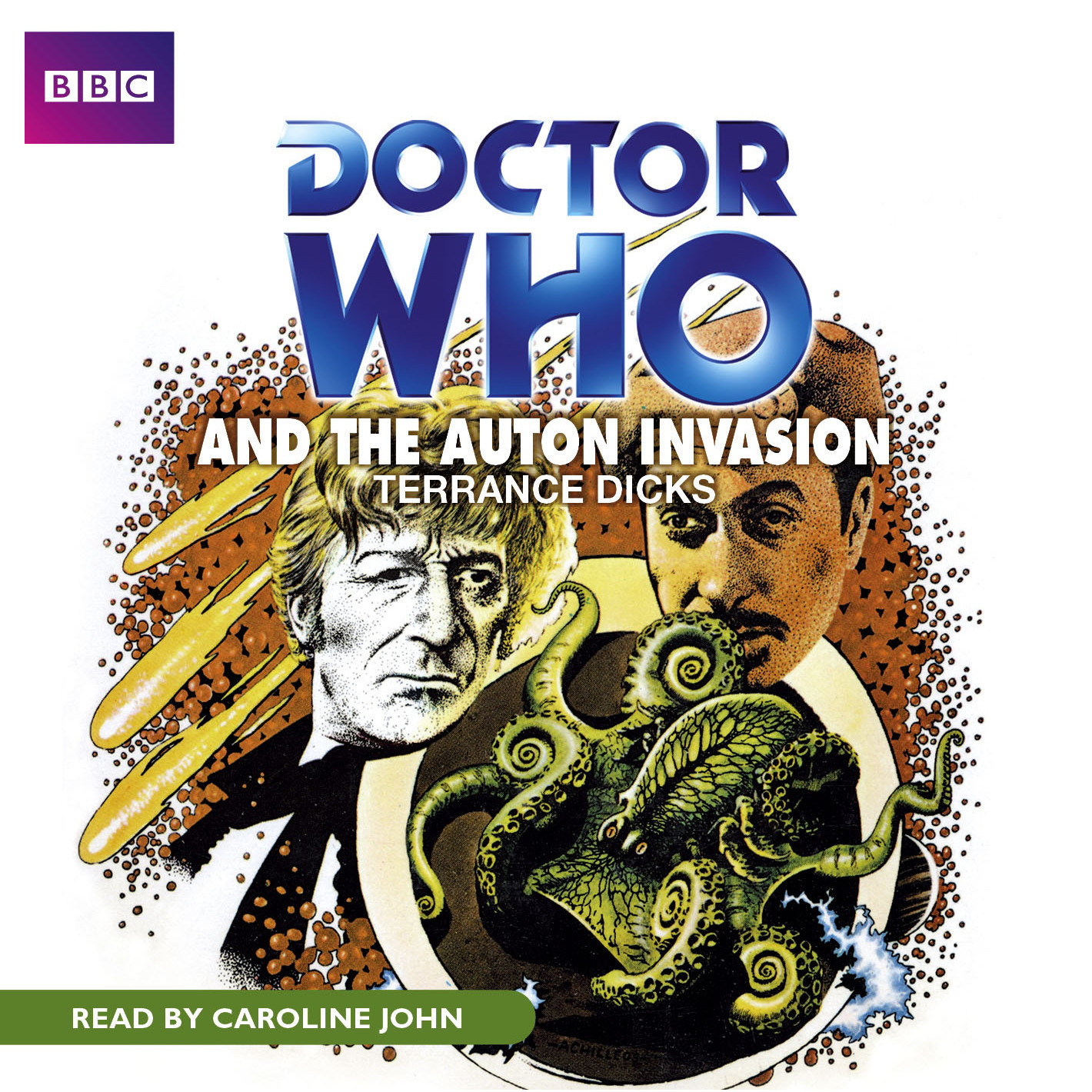 Printable Doctor Who and the Auton Invasion Audiobook Cover Art