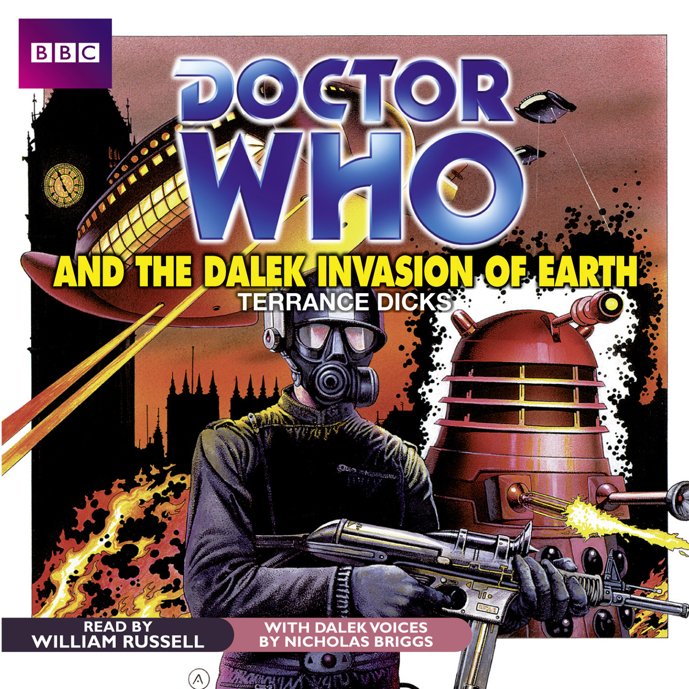 Printable Doctor Who and the Dalek Invasion of Earth Audiobook Cover Art