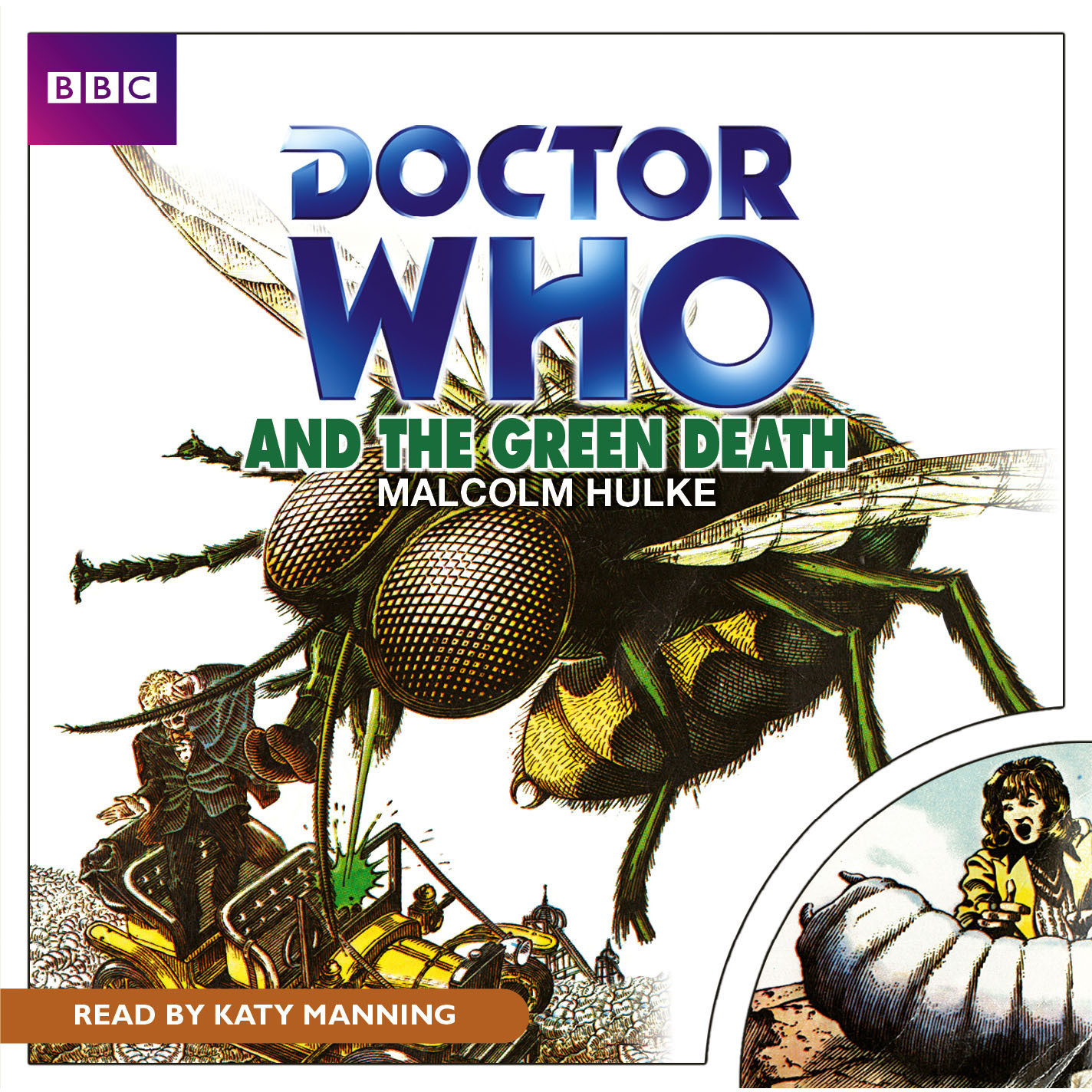 Printable Doctor Who and the Green Death Audiobook Cover Art