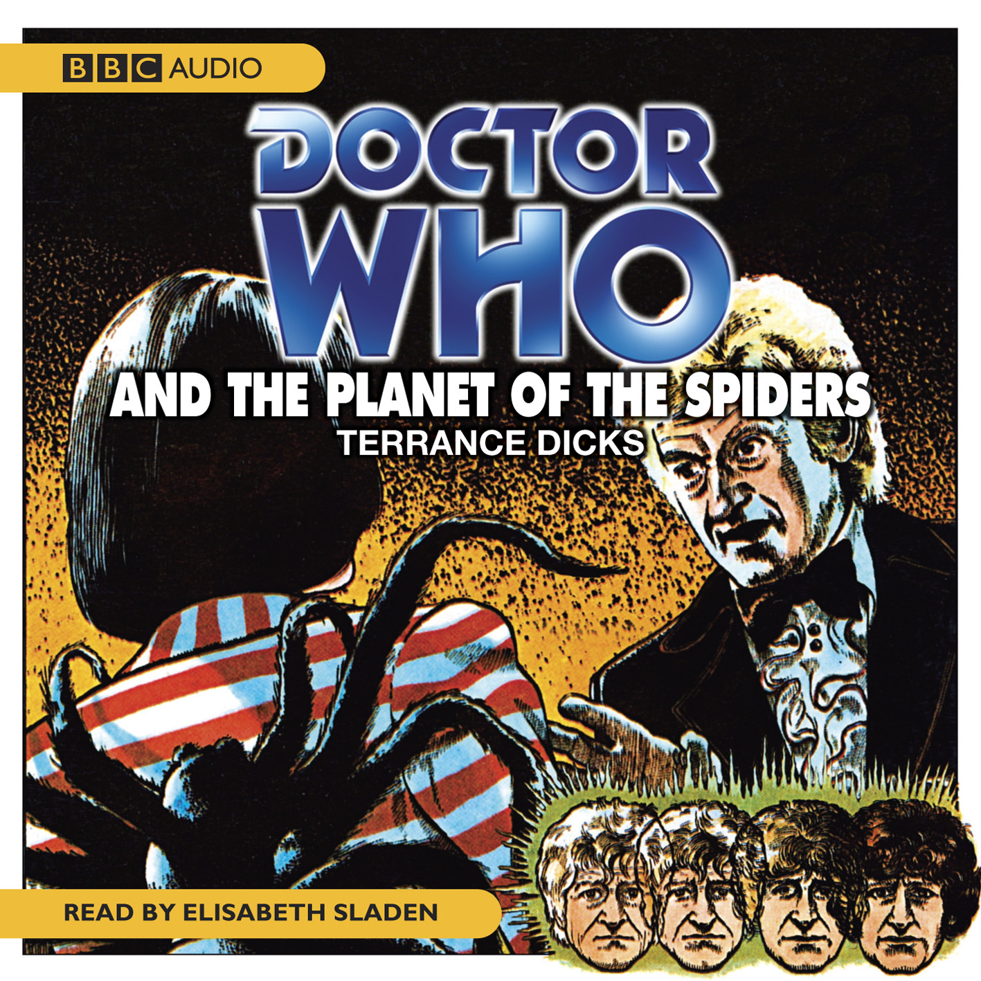 Printable Doctor Who and the Planet of the Spiders Audiobook Cover Art