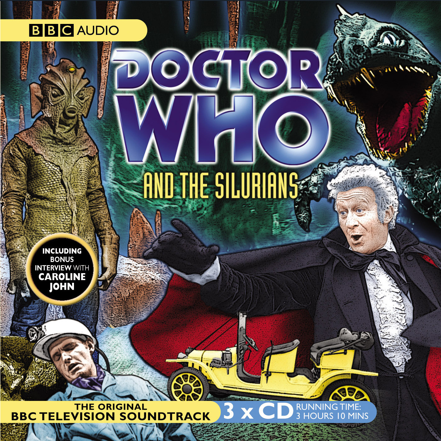 Printable Doctor Who and the Silurians Audiobook Cover Art