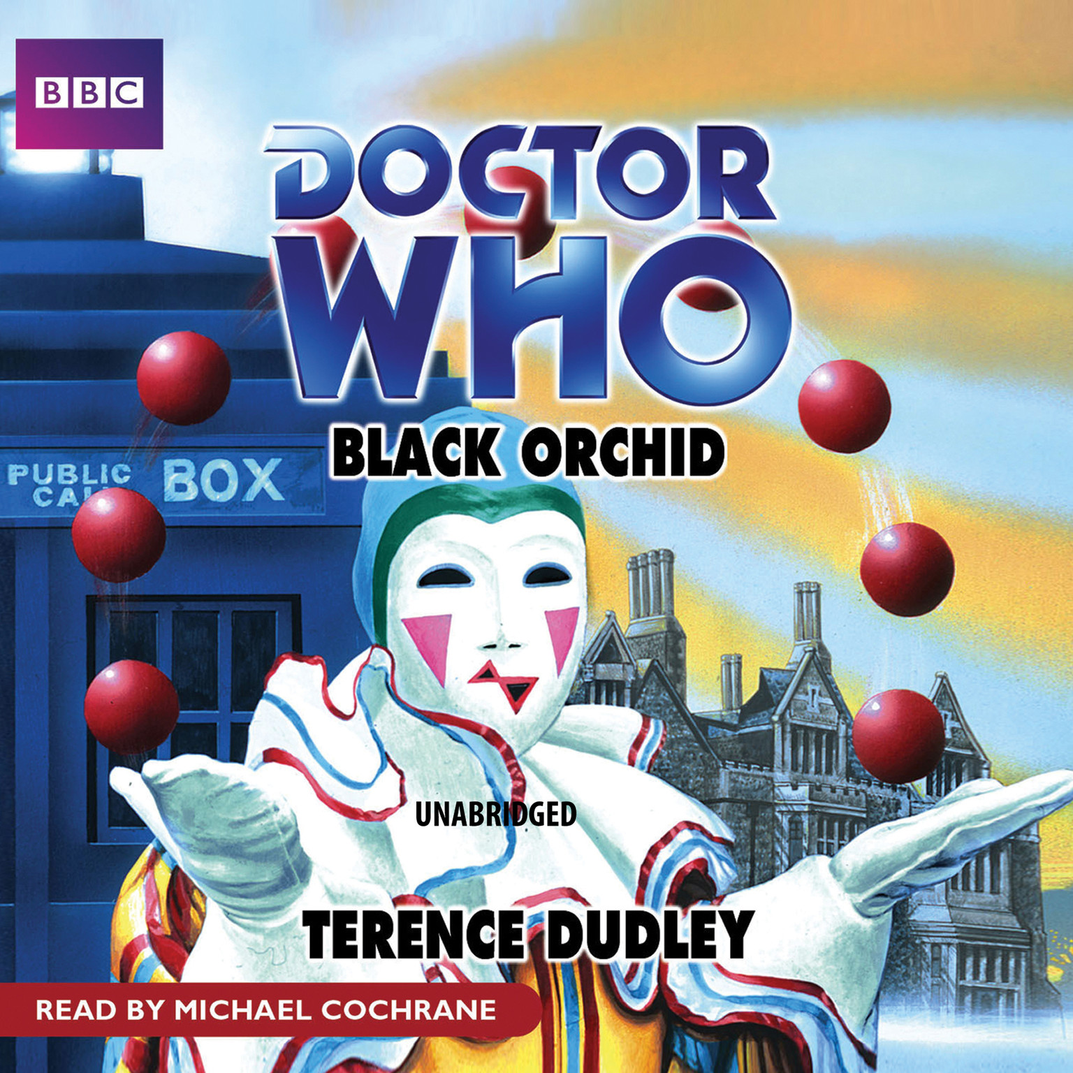 Printable Doctor Who: Black Orchid Audiobook Cover Art