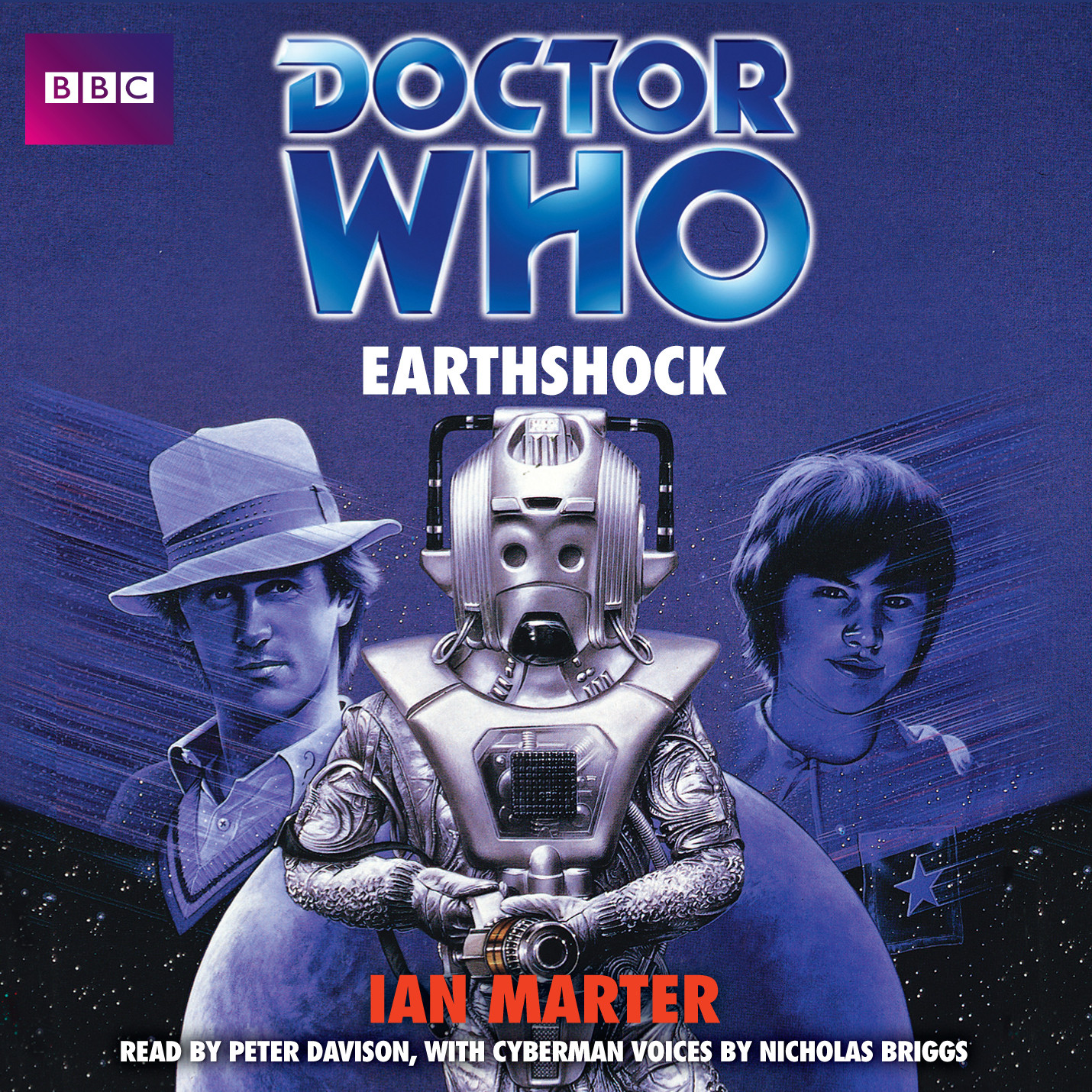 Printable Doctor Who: Earthshock Audiobook Cover Art