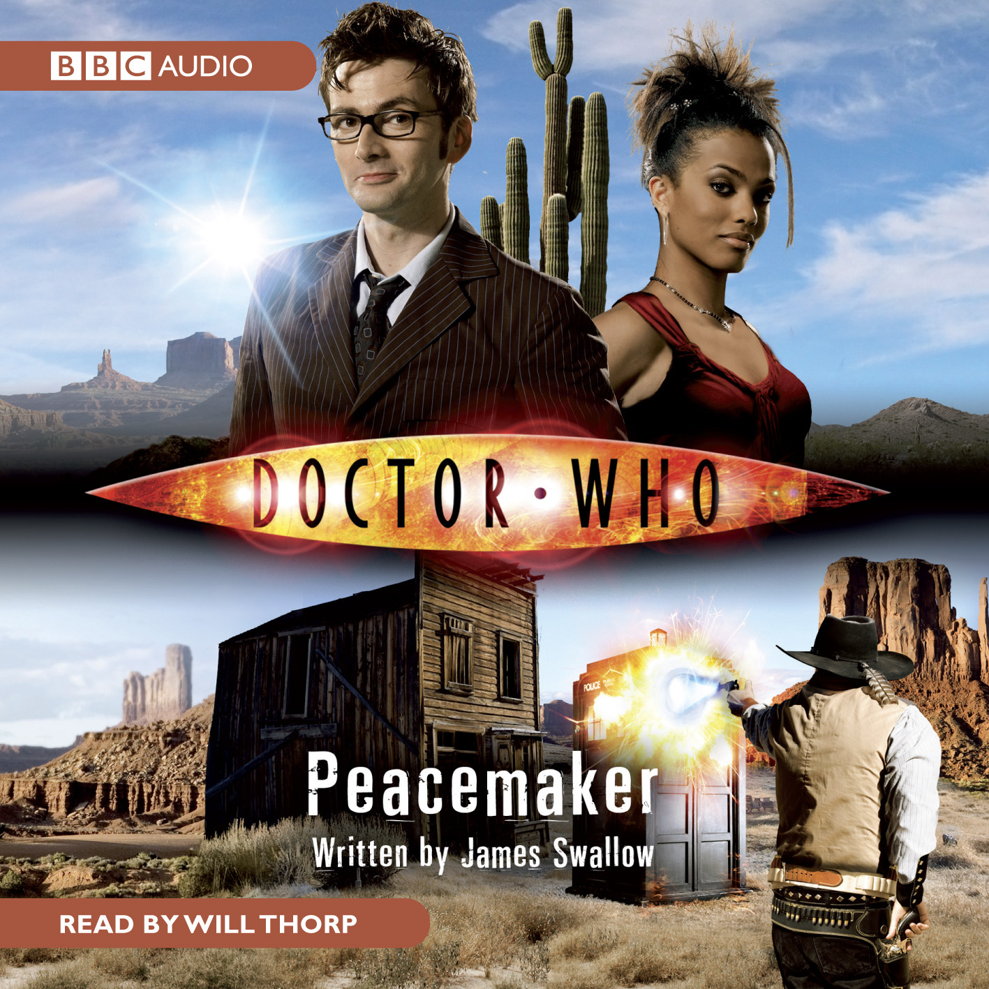 Printable Doctor Who: Peacemaker Audiobook Cover Art