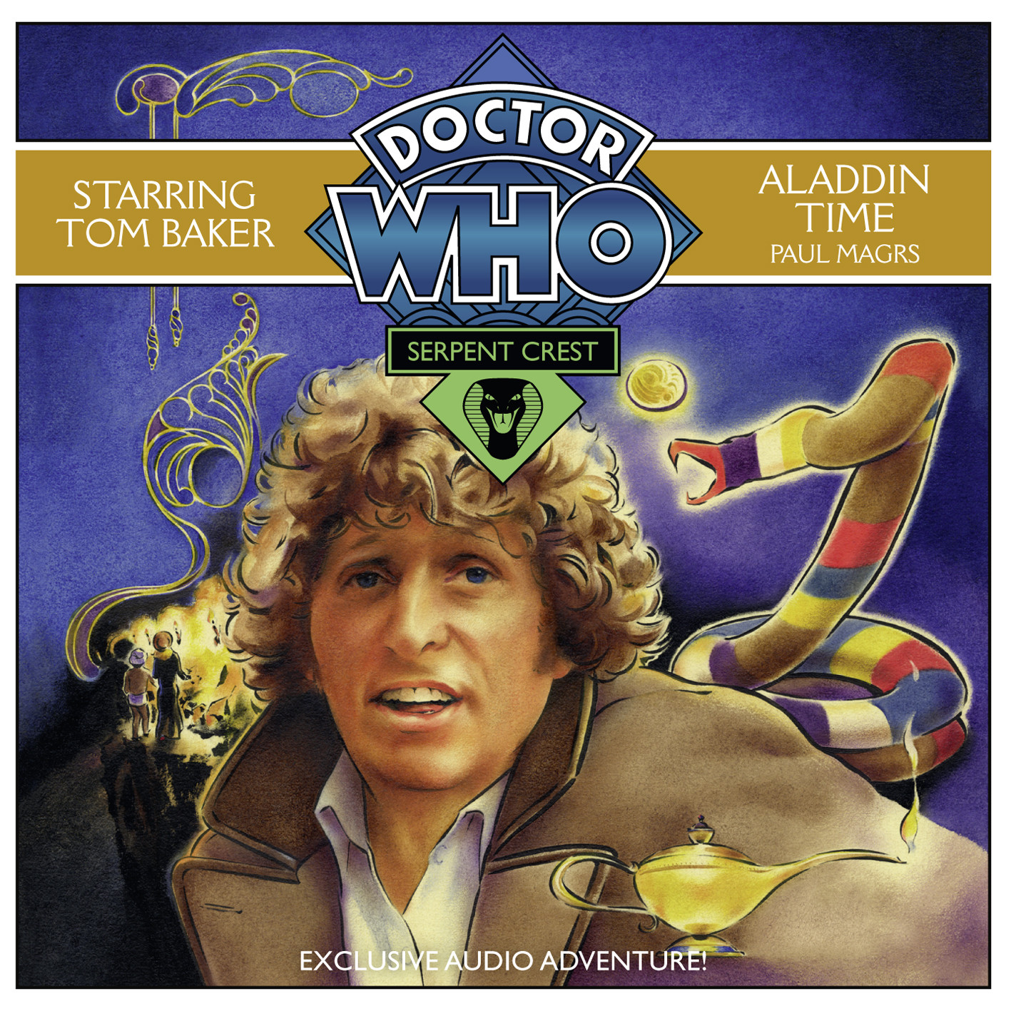 Printable Doctor Who: Aladdin Time Audiobook Cover Art