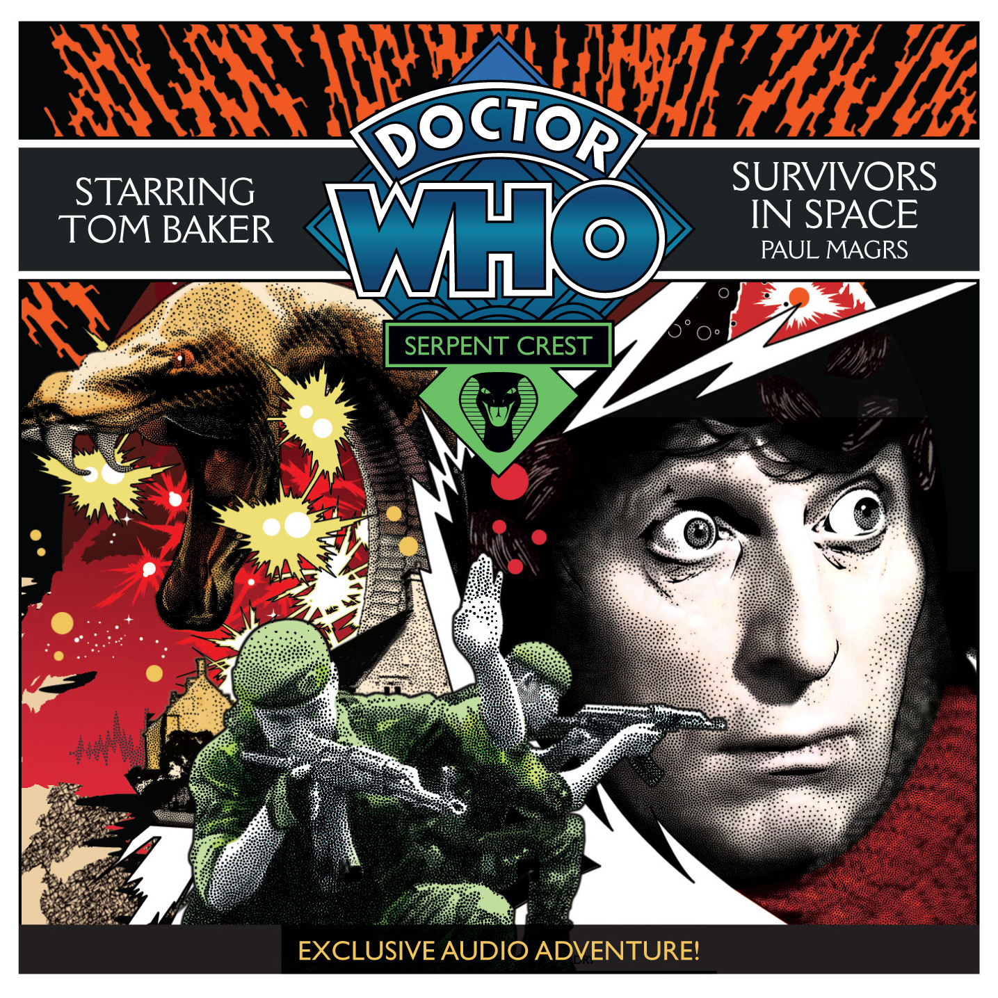 Printable Doctor Who: Survivors in Space Audiobook Cover Art