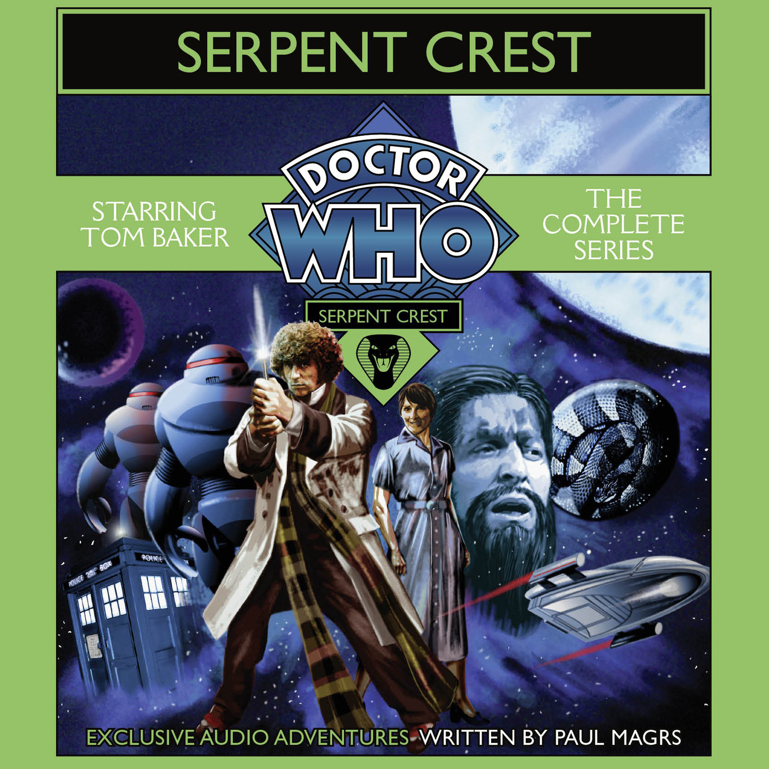 Printable Doctor Who: Serpent Crest: The Complete Series Audiobook Cover Art