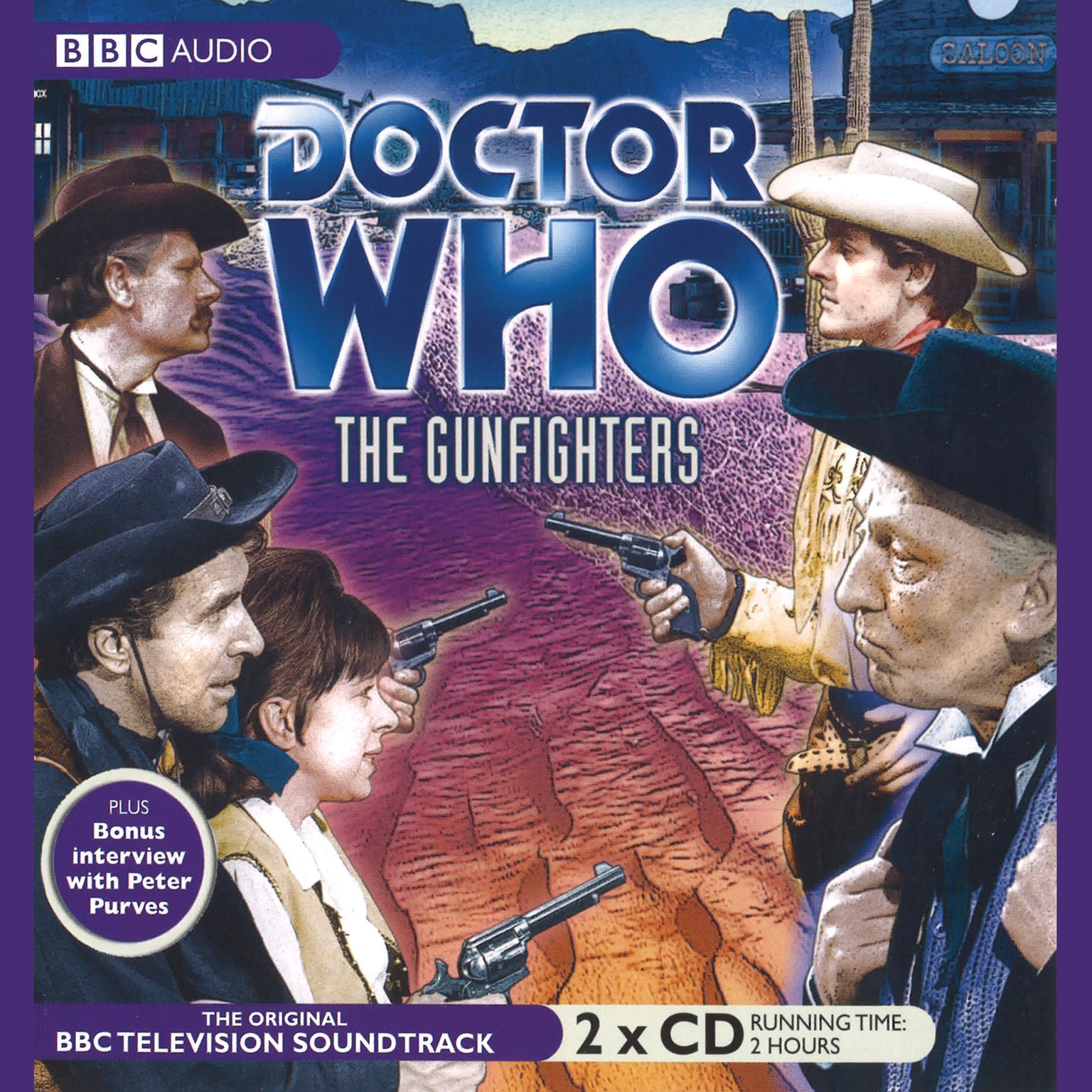 Printable Doctor Who: The Gunfighters Audiobook Cover Art
