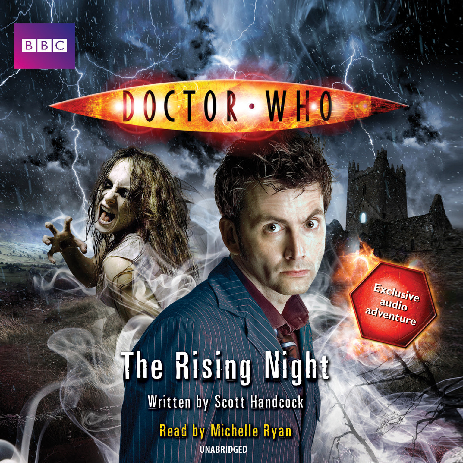 Printable Doctor Who: The Rising Night Audiobook Cover Art