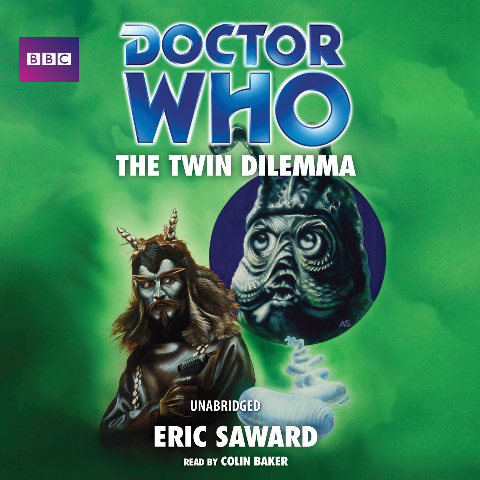 Printable Doctor Who: The Twin Dilemma Audiobook Cover Art