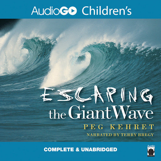 Printable Escaping the Giant Wave Audiobook Cover Art