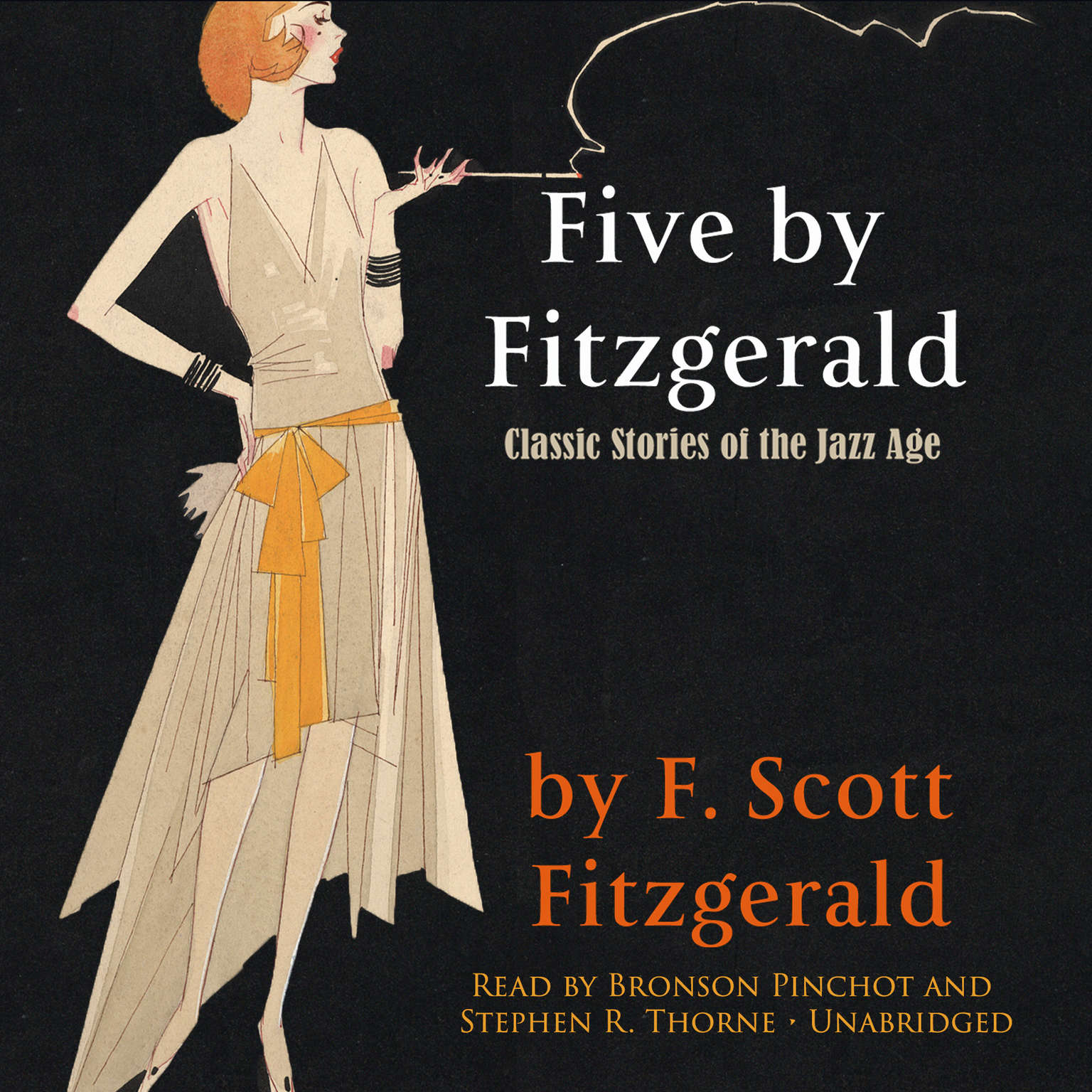 Printable Five by Fitzgerald: Classic Stories of the Jazz Age Audiobook Cover Art