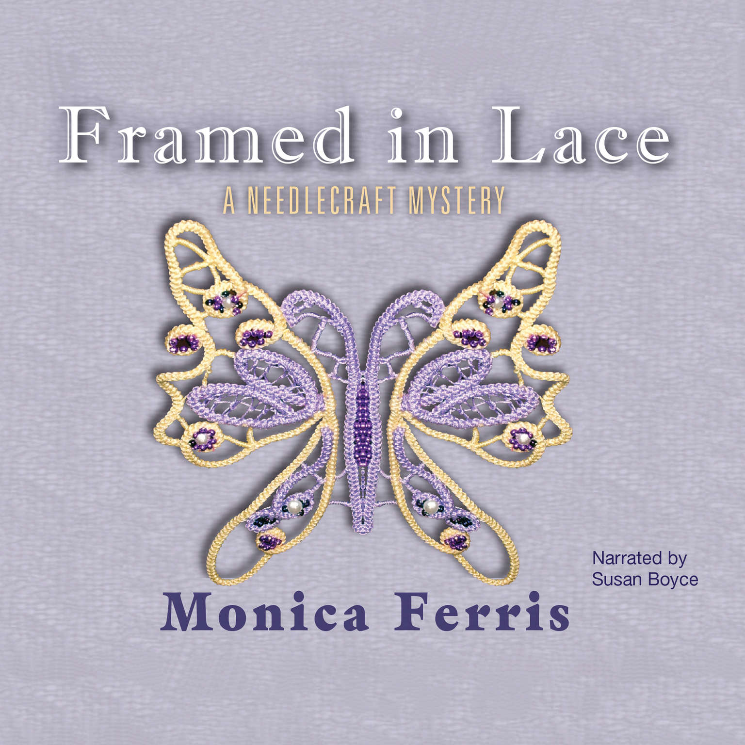 Printable Framed in Lace Audiobook Cover Art