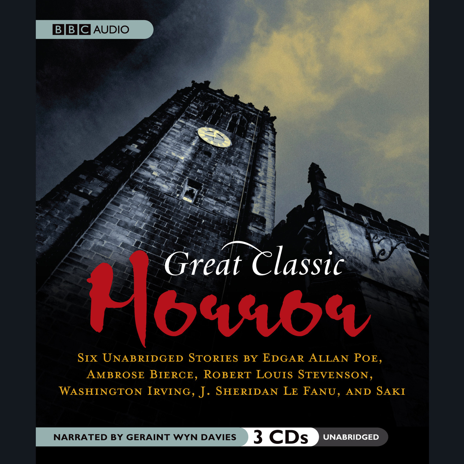 Printable Great Classic Horror Audiobook Cover Art