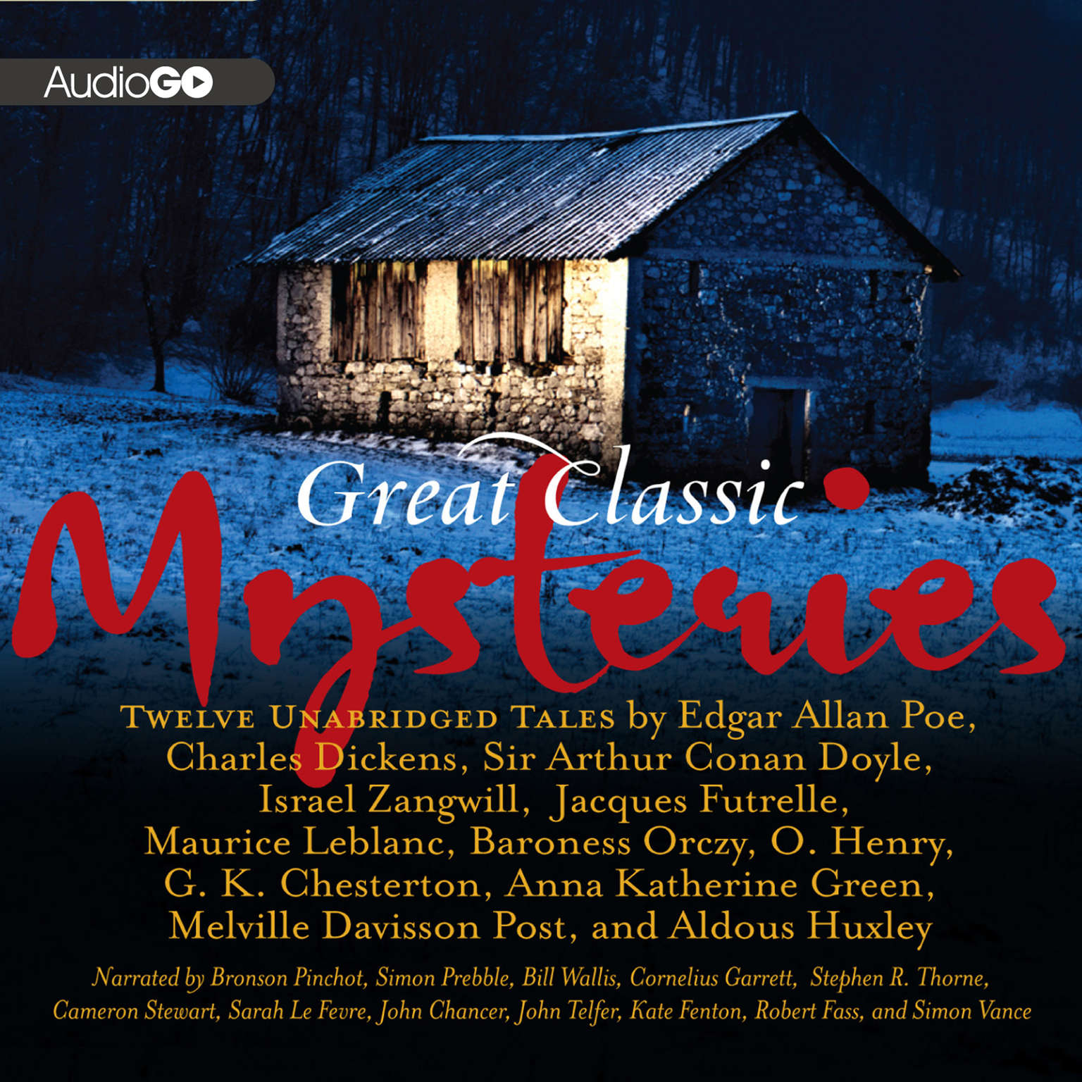 Printable Great Classic Mysteries Audiobook Cover Art