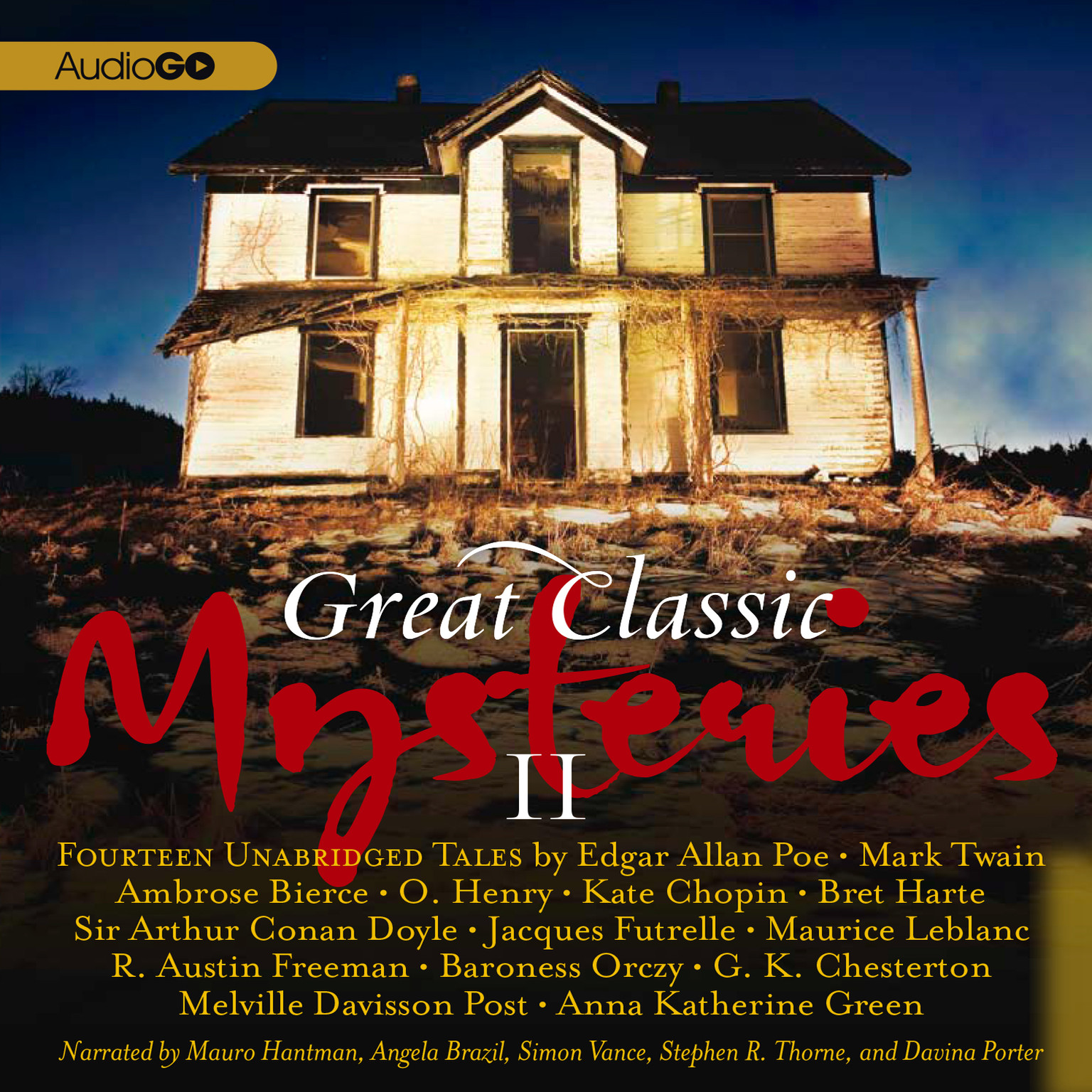 Printable Great Classic Mysteries II Audiobook Cover Art