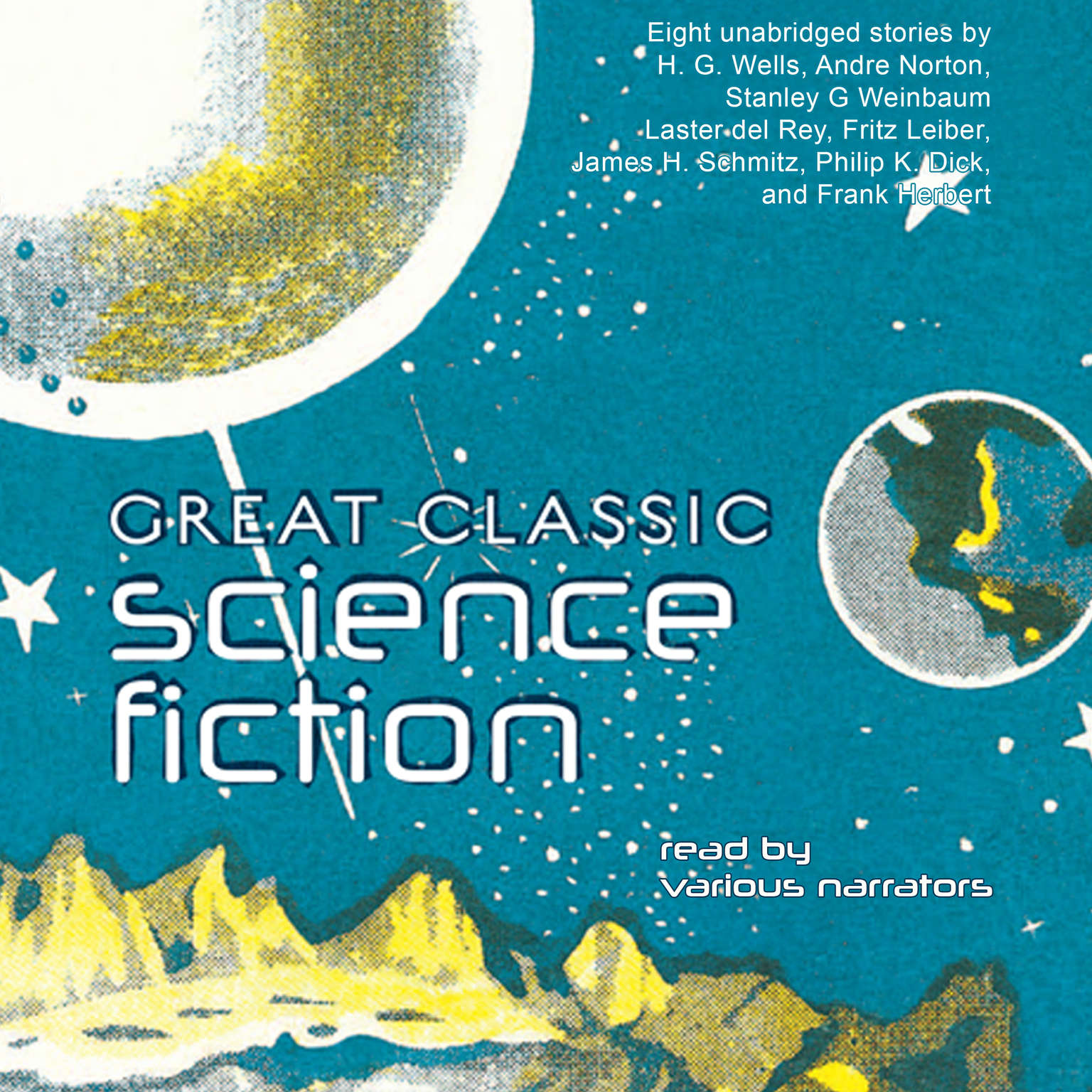 Printable Great Classic Science Fiction Audiobook Cover Art