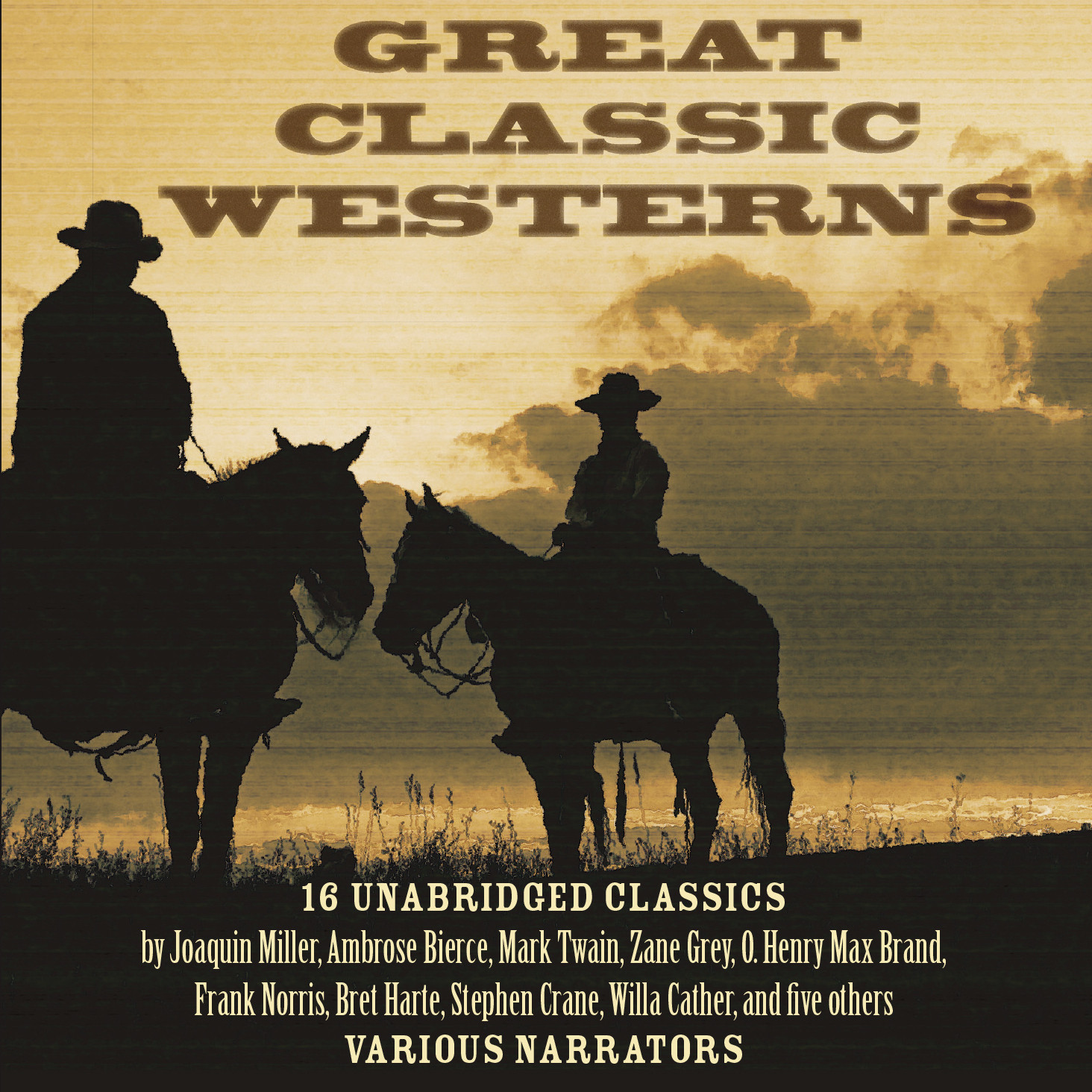 Printable Great Classic Westerns Audiobook Cover Art