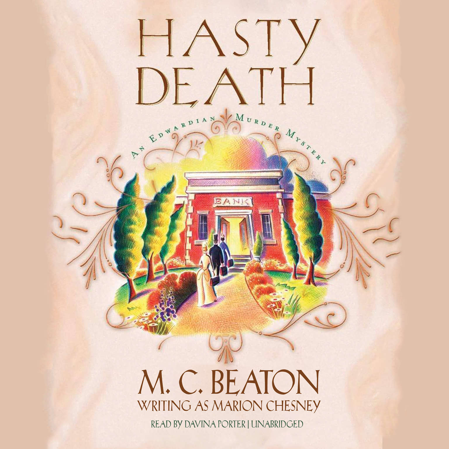Printable Hasty Death Audiobook Cover Art