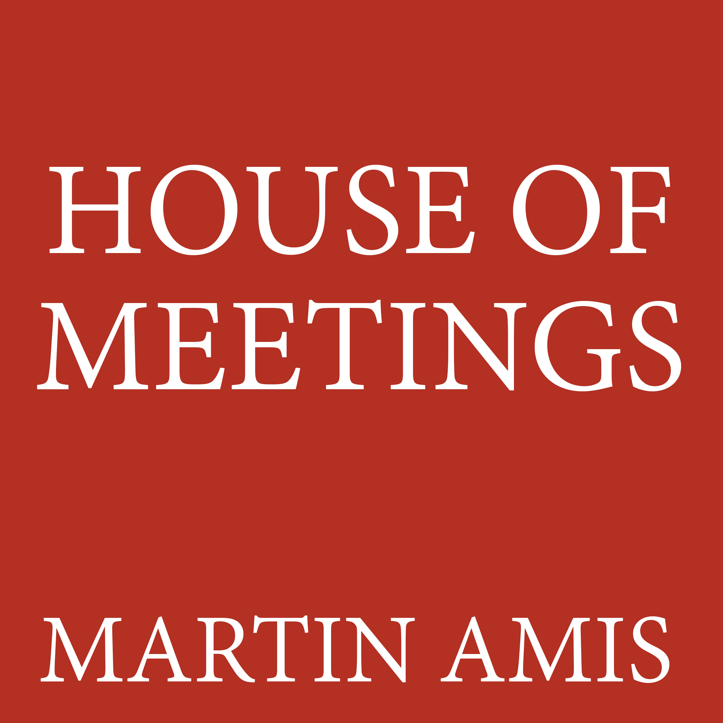 Printable House of Meetings Audiobook Cover Art
