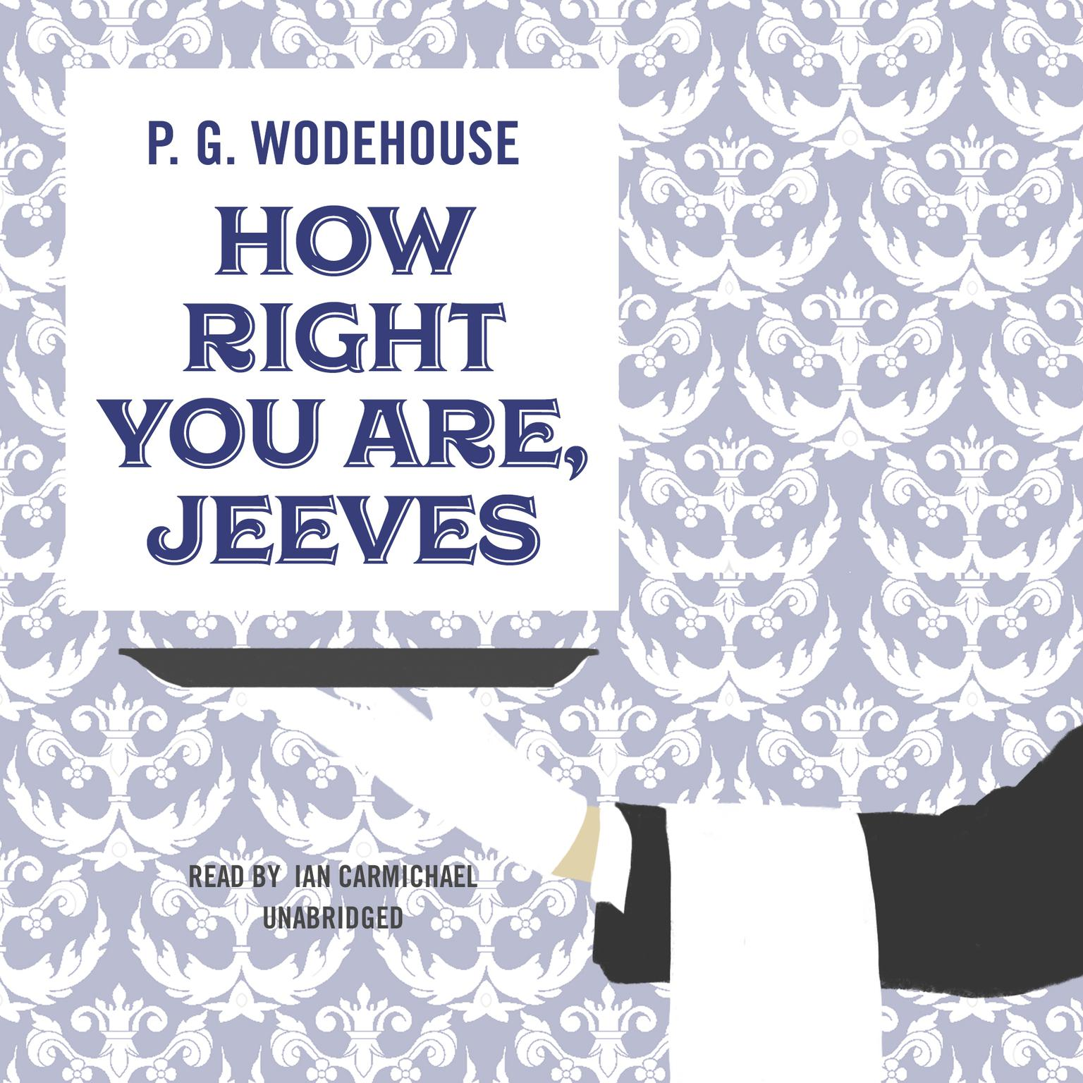 Printable How Right You Are, Jeeves Audiobook Cover Art